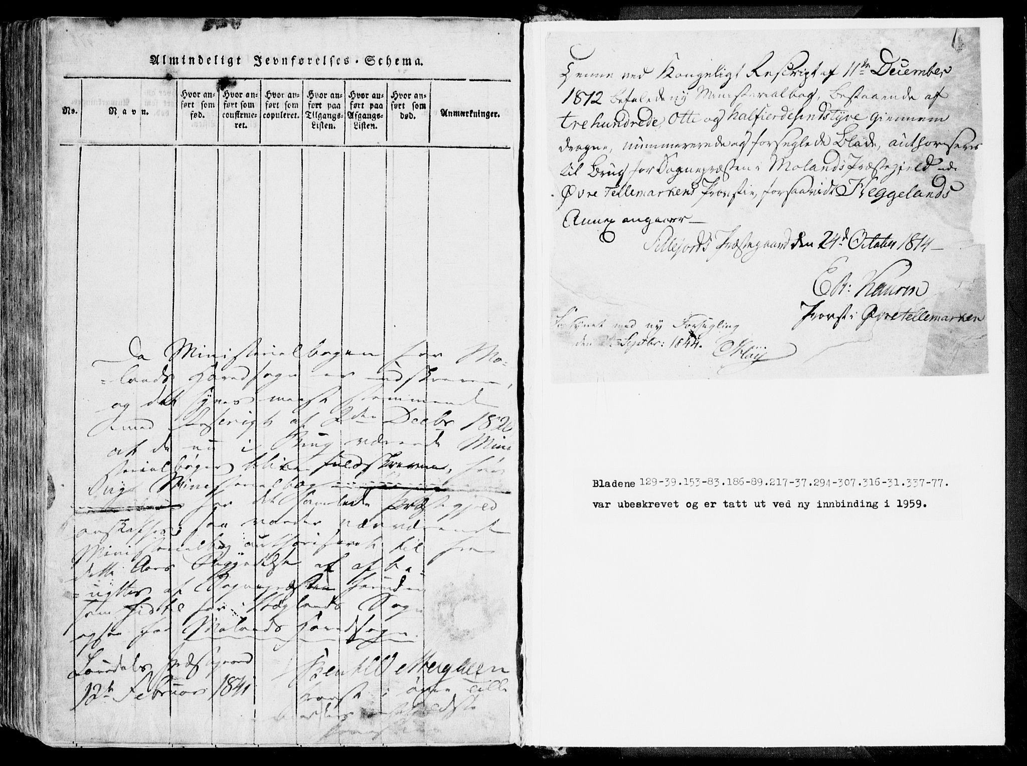 SAKO, Fyresdal kirkebøker, F/Fa/L0004: Ministerialbok nr. I 4, 1815-1854