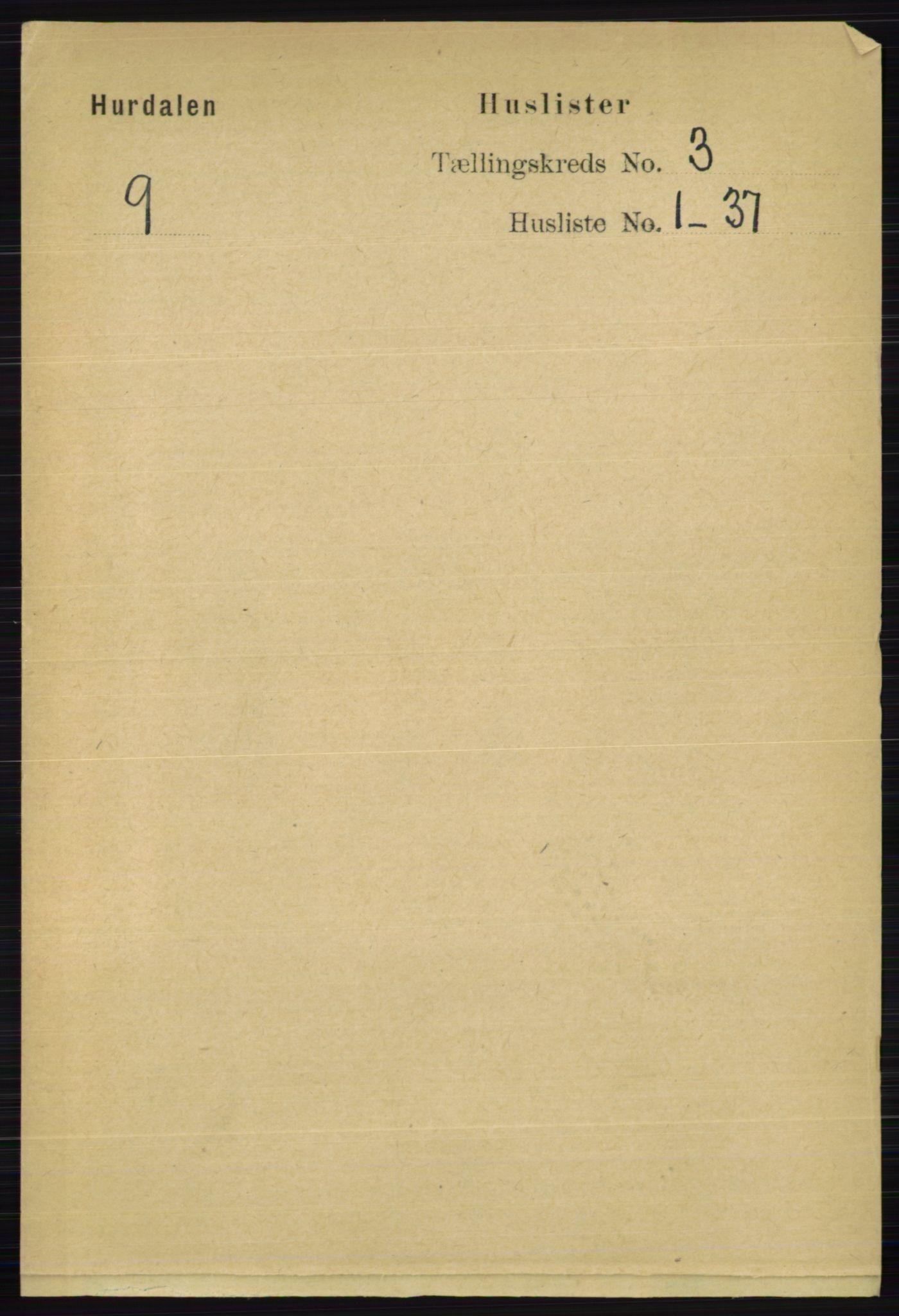 RA, Folketelling 1891 for 0239 Hurdal herred, 1891, s. 989