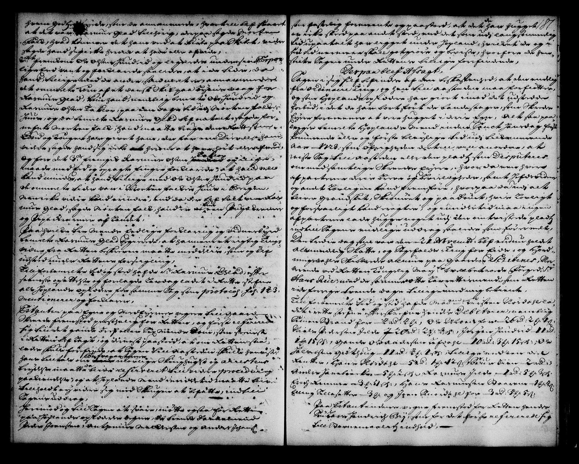 SAB, Nordfjord sorenskriveri, 01/01a/L0021: Tingbøker (justisprotokoller), 1721-1723, s. 180b-181a