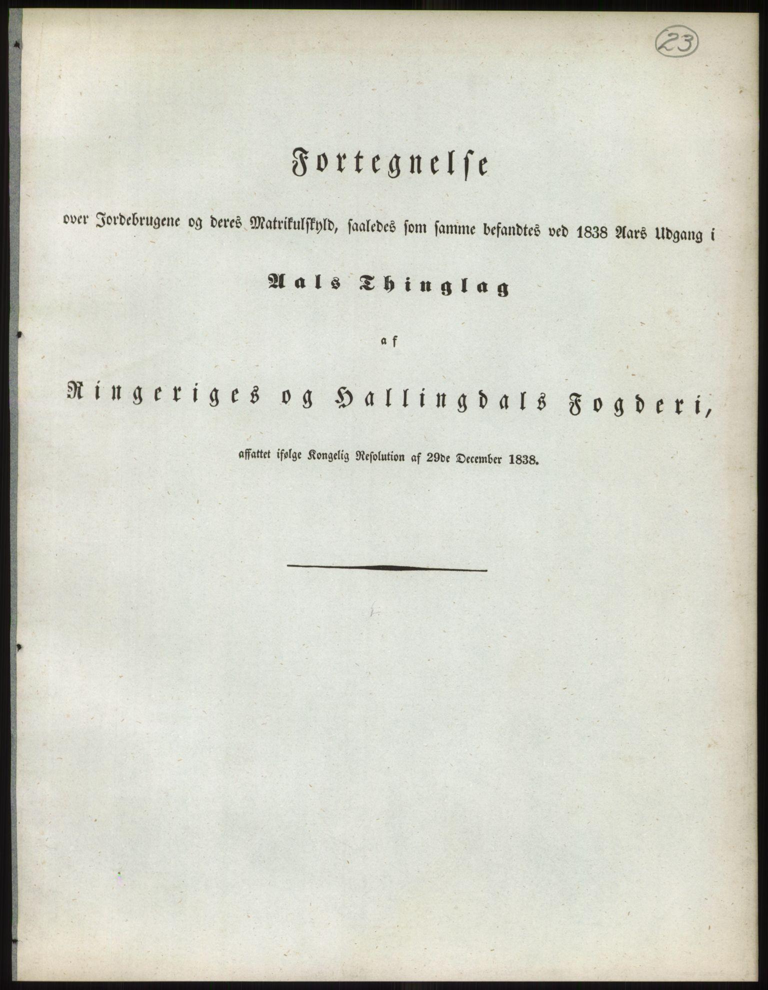 RA, 1838-matrikkelen (publikasjon)*, 1838, s. 23