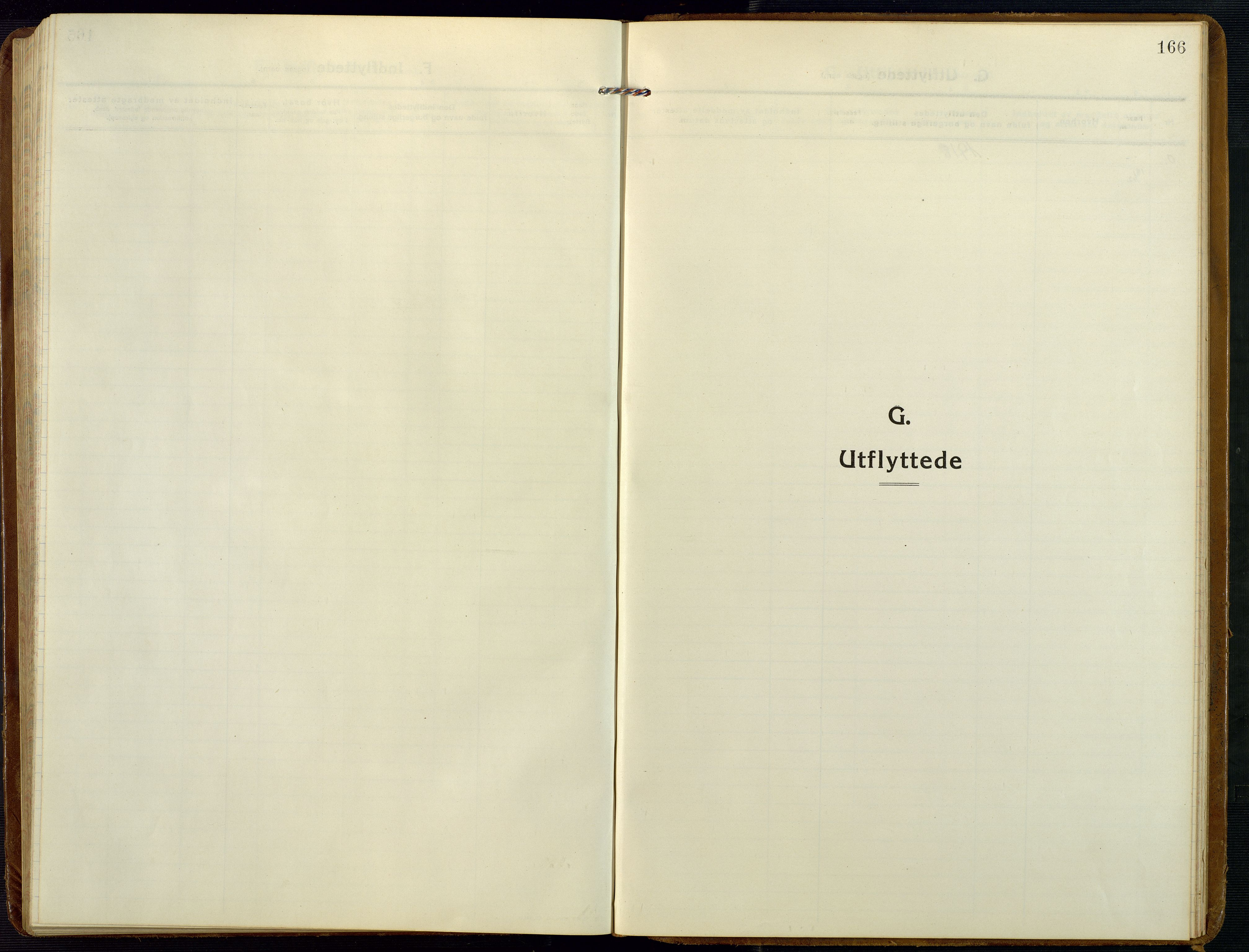 SAK, Åmli sokneprestkontor, F/Fb/Fba/L0003: Klokkerbok nr. B 3, 1912-1974, s. 166