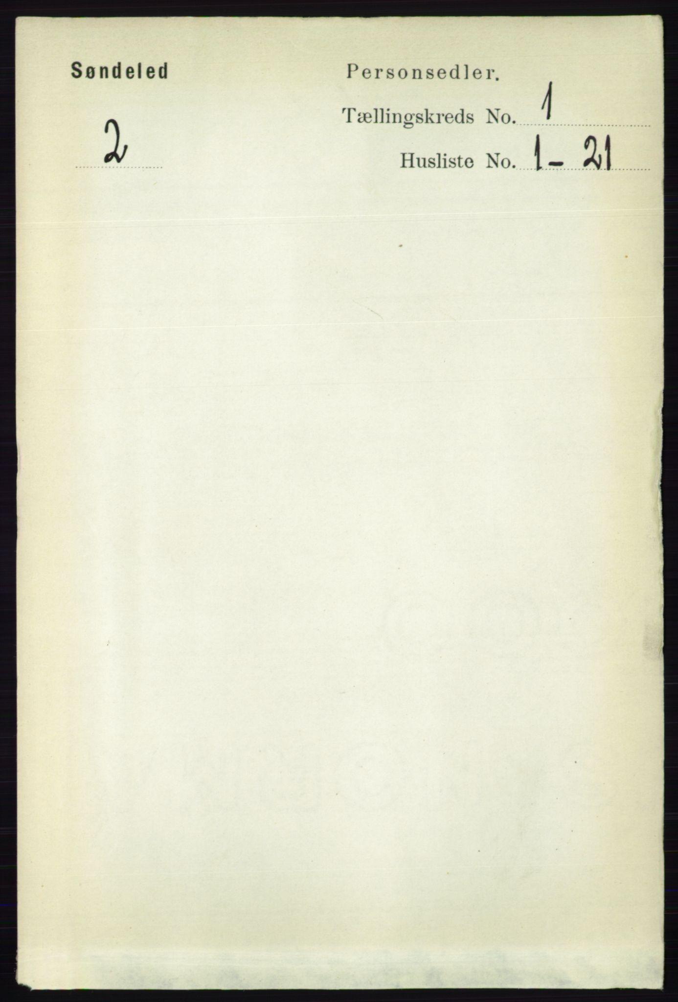 RA, Folketelling 1891 for 0913 Søndeled herred, 1891, s. 84