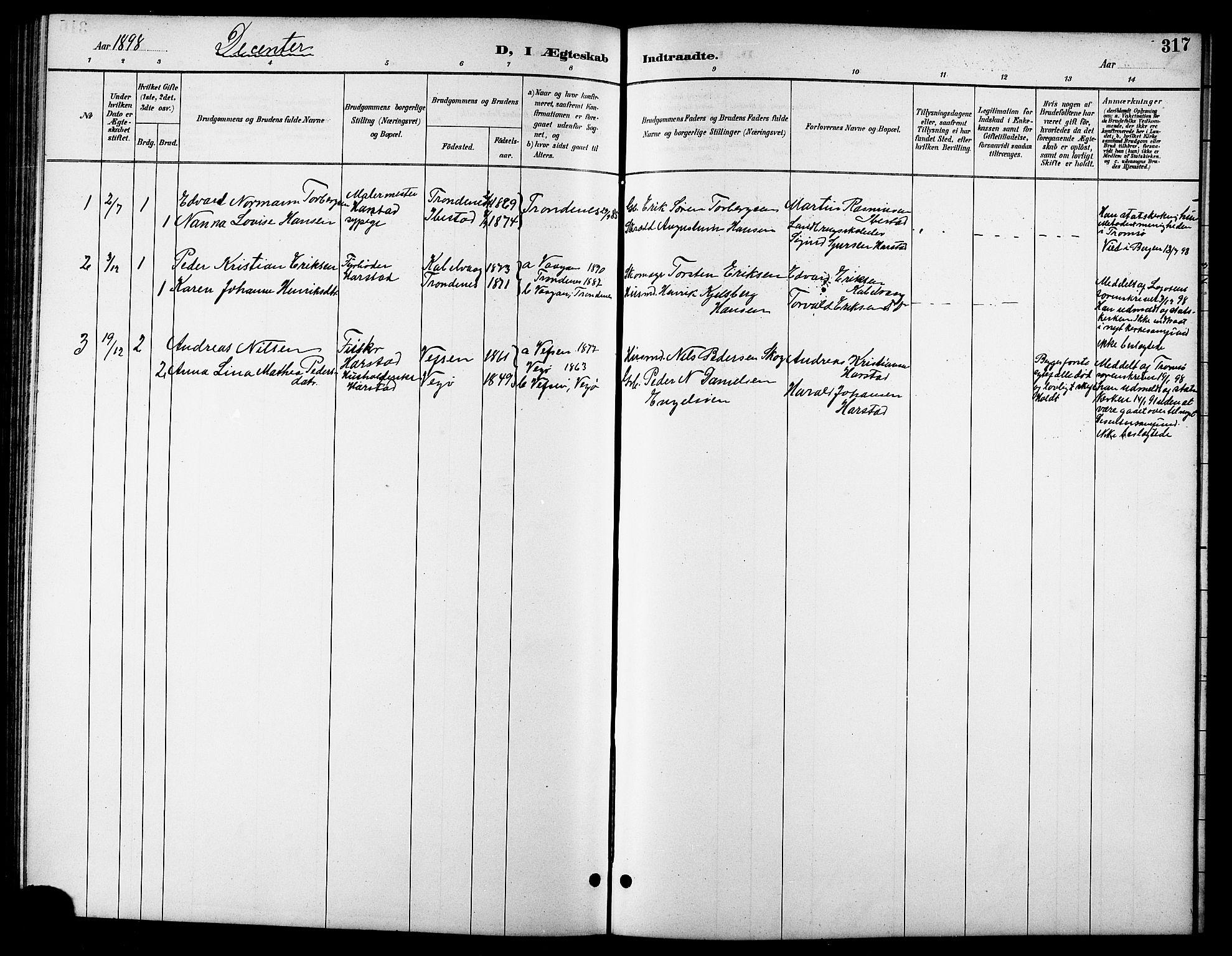 SATØ, Trondenes sokneprestkontor, H/Hb/L0011klokker: Klokkerbok nr. 11, 1891-1906, s. 317