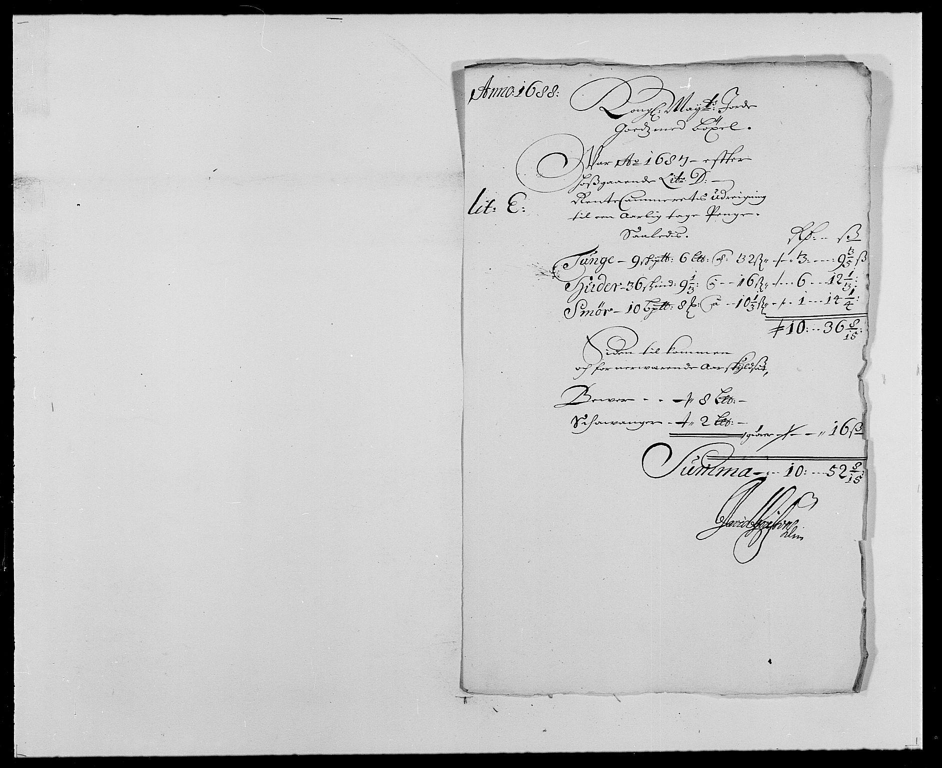 RA, Rentekammeret inntil 1814, Reviderte regnskaper, Fogderegnskap, R24/L1573: Fogderegnskap Numedal og Sandsvær, 1687-1691, s. 291