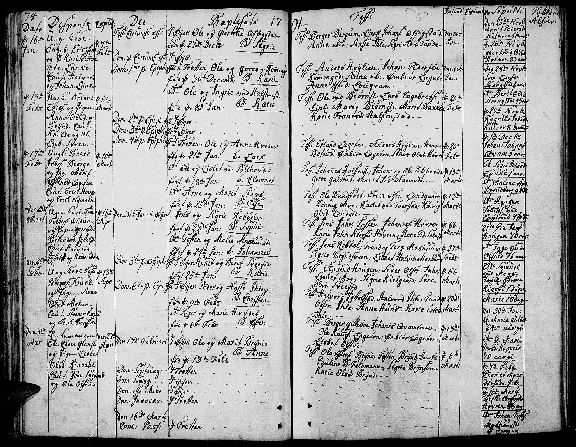 SAH, Øyer prestekontor, Ministerialbok nr. 3, 1784-1824, s. 74-75