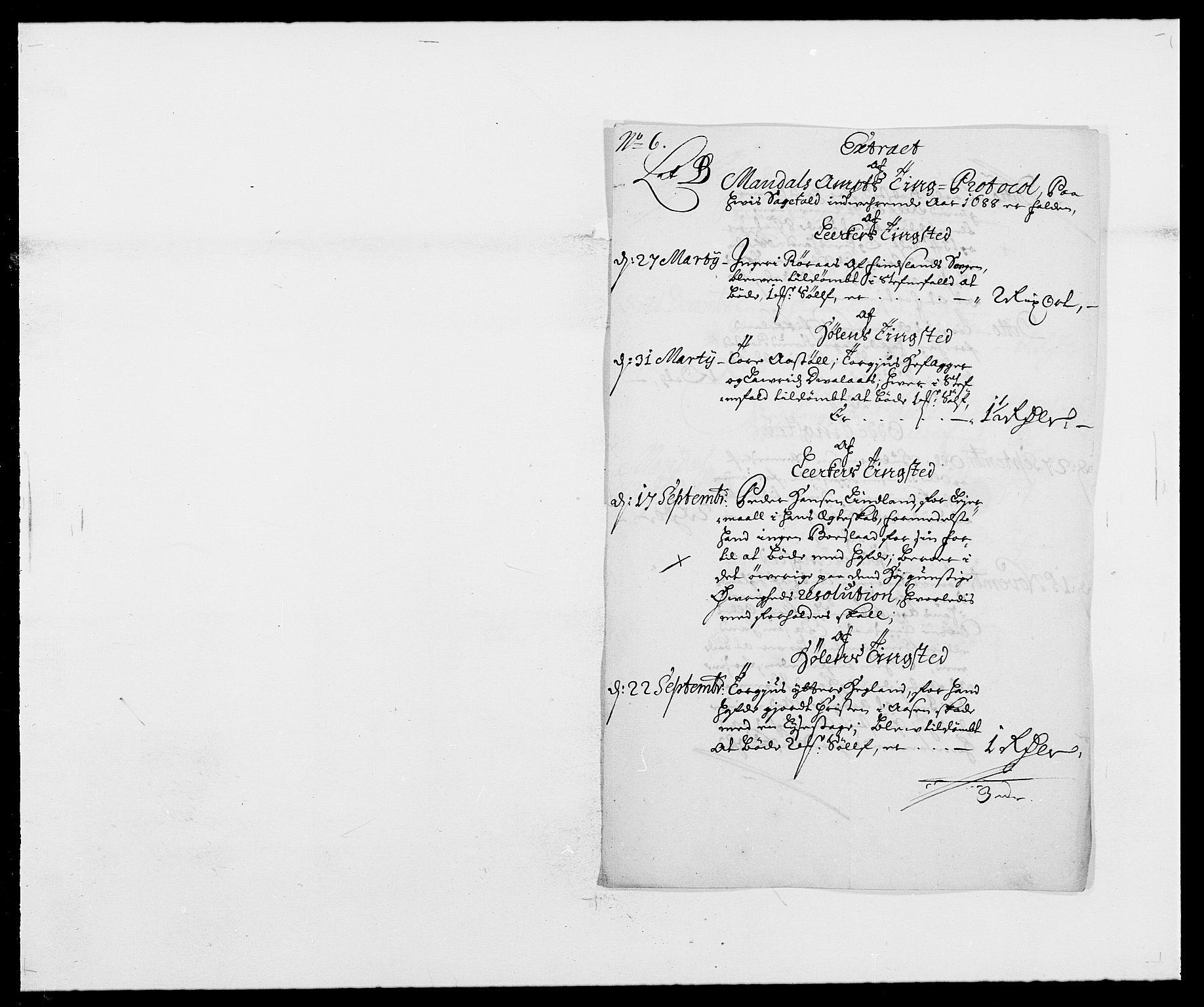 RA, Rentekammeret inntil 1814, Reviderte regnskaper, Fogderegnskap, R42/L2543: Mandal fogderi, 1688-1691, s. 36