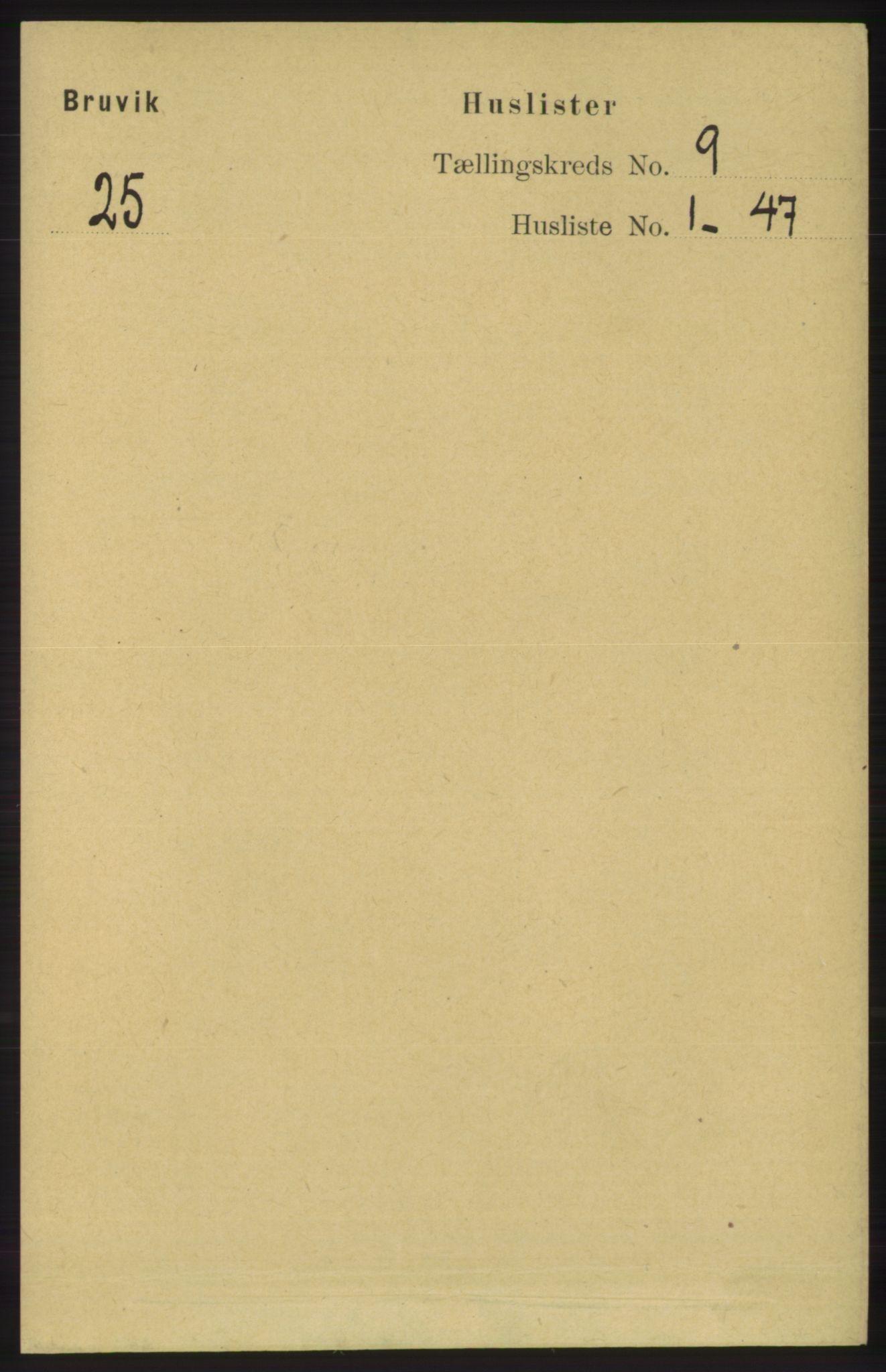 RA, Folketelling 1891 for 1251 Bruvik herred, 1891, s. 3210