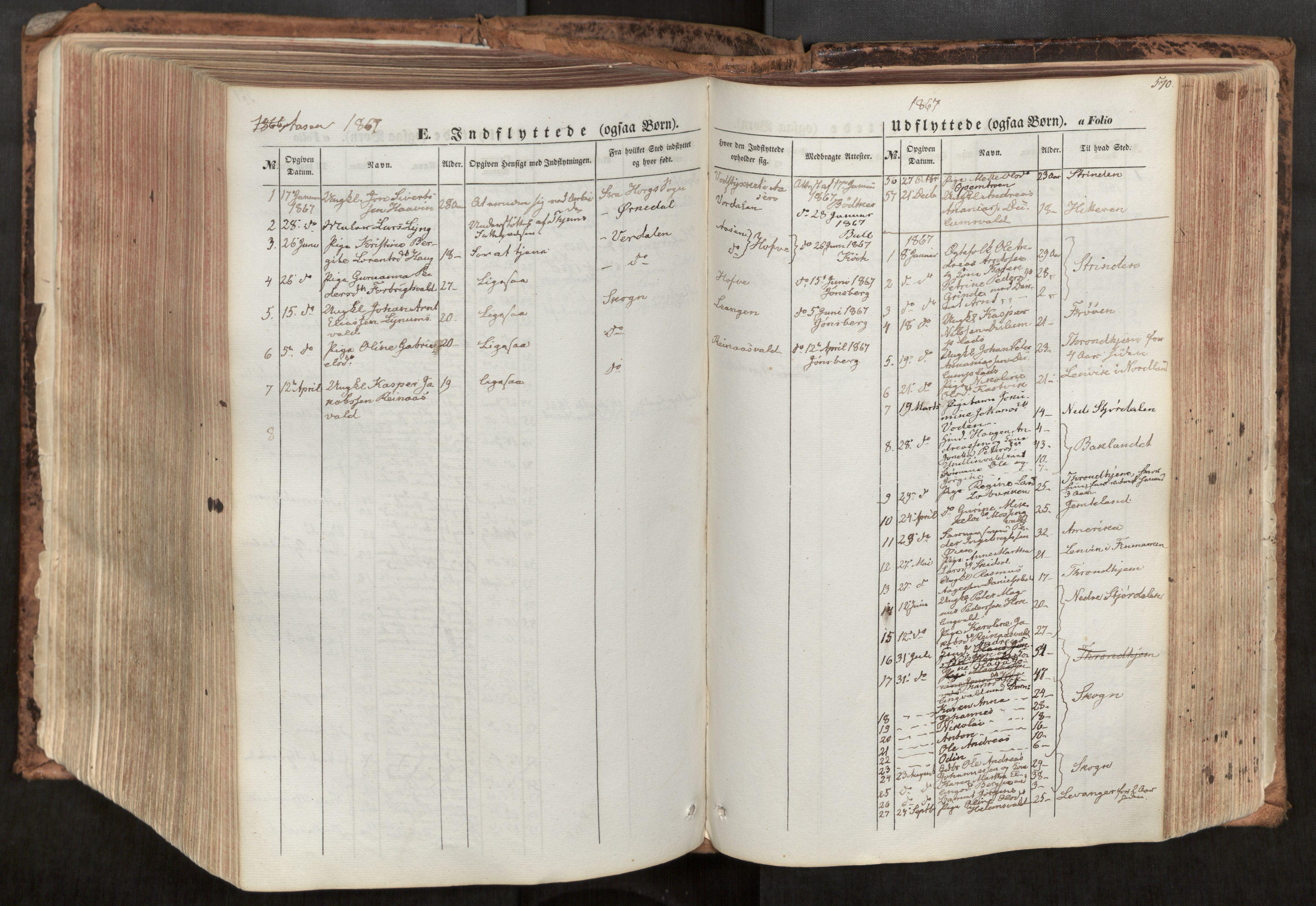 SAT, Ministerialprotokoller, klokkerbøker og fødselsregistre - Nord-Trøndelag, 713/L0116: Ministerialbok nr. 713A07, 1850-1877, s. 570