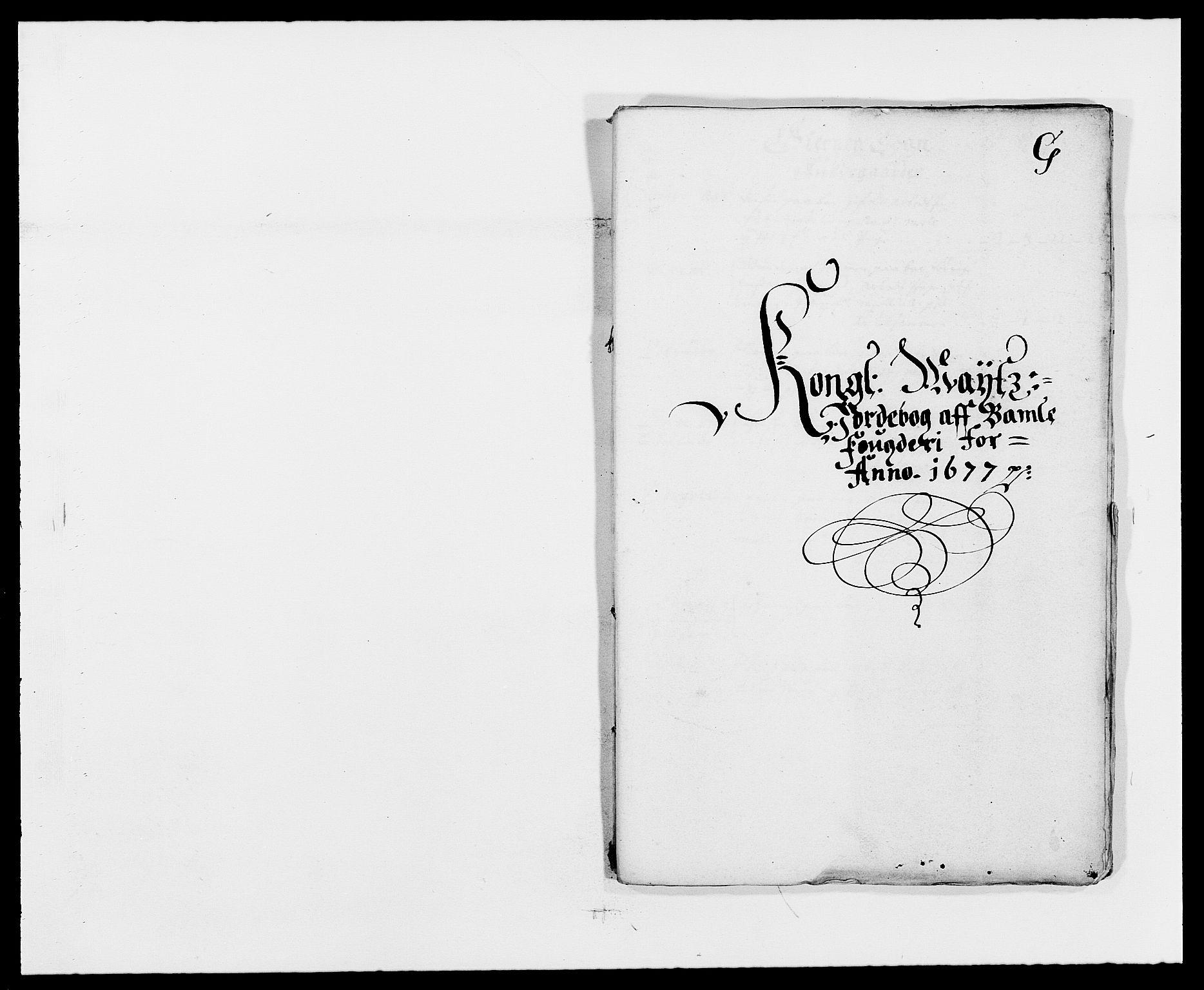 RA, Rentekammeret inntil 1814, Reviderte regnskaper, Fogderegnskap, R34/L2043: Fogderegnskap Bamble, 1676-1677, s. 407
