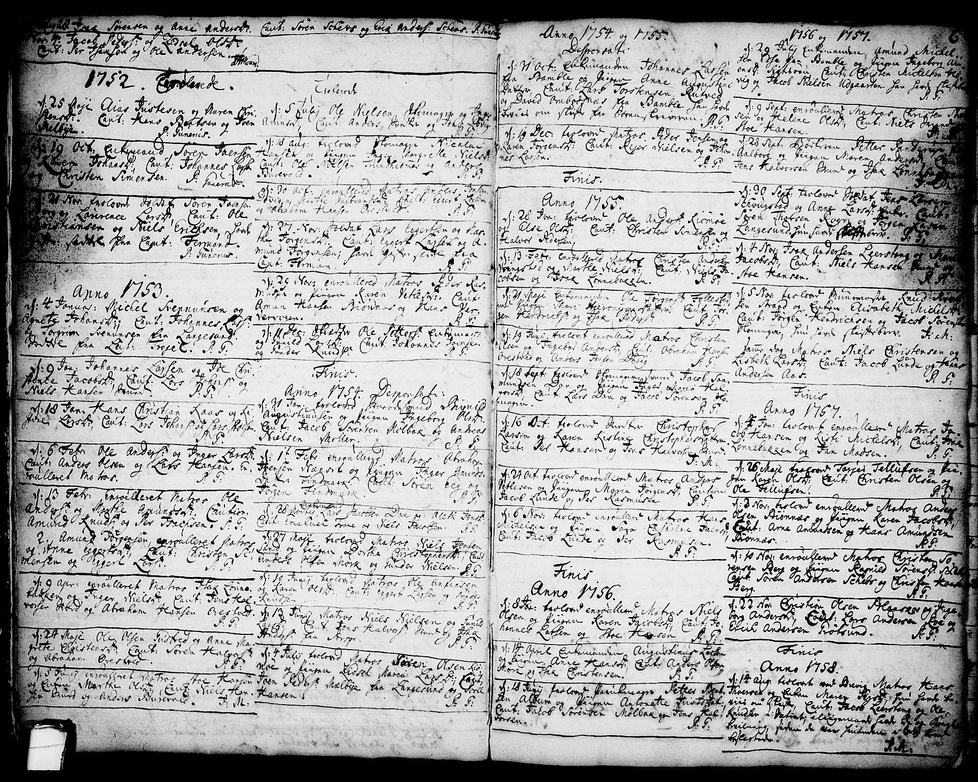 SAKO, Brevik kirkebøker, F/Fa/L0002: Ministerialbok nr. 2, 1720-1764, s. 6