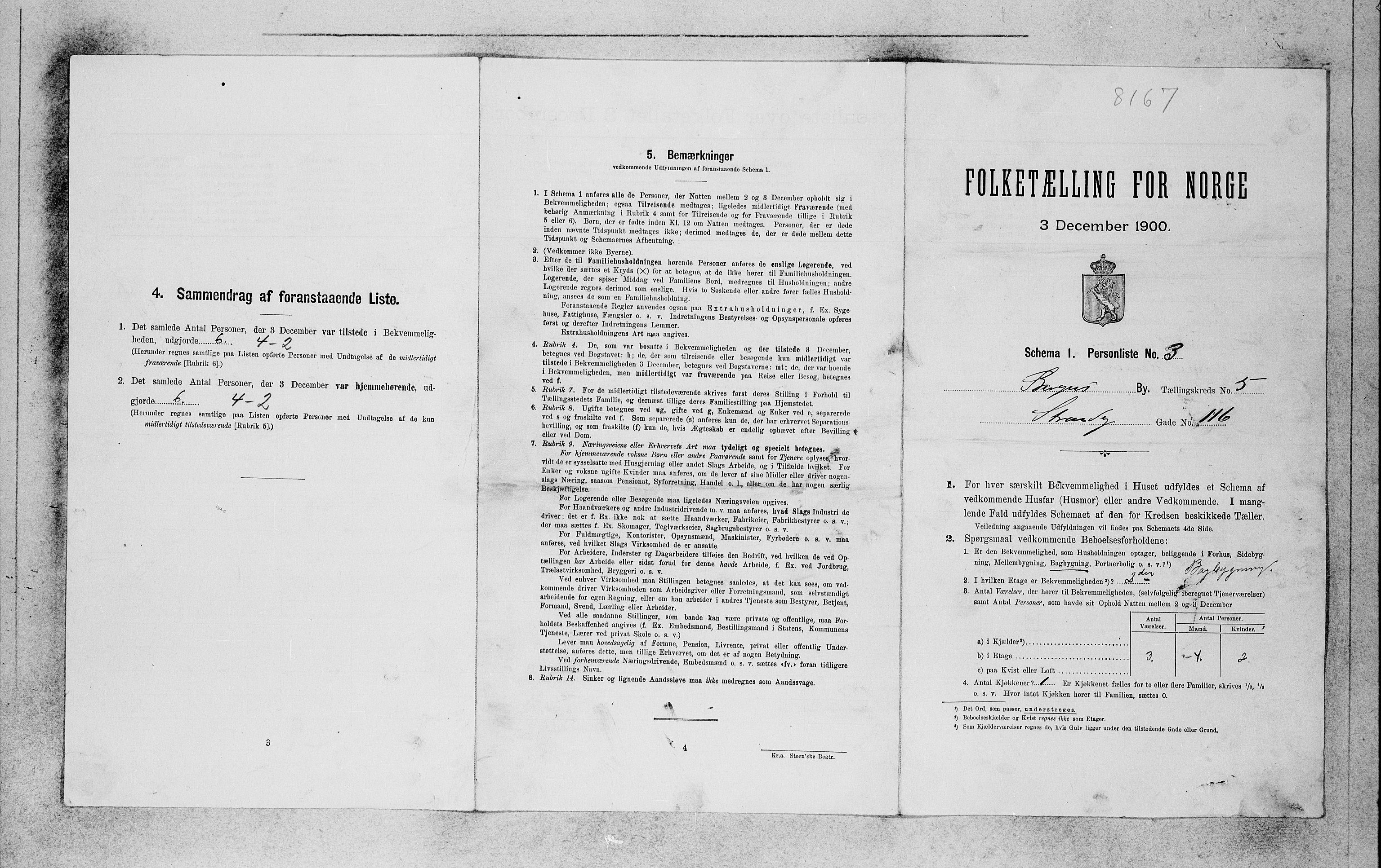 SAB, Folketelling 1900 for 1301 Bergen kjøpstad, 1900, s. 950