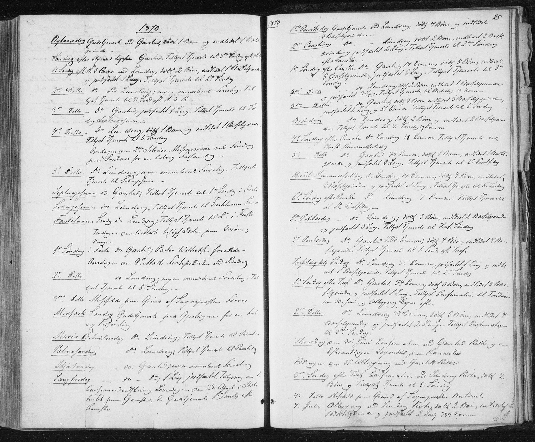 SAT, Ministerialprotokoller, klokkerbøker og fødselsregistre - Nord-Trøndelag, 784/L0670: Ministerialbok nr. 784A05, 1860-1876, s. 25