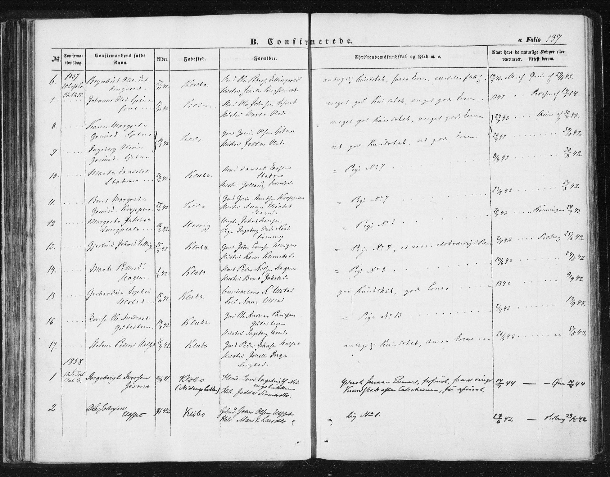 SAT, Ministerialprotokoller, klokkerbøker og fødselsregistre - Sør-Trøndelag, 618/L0441: Ministerialbok nr. 618A05, 1843-1862, s. 137