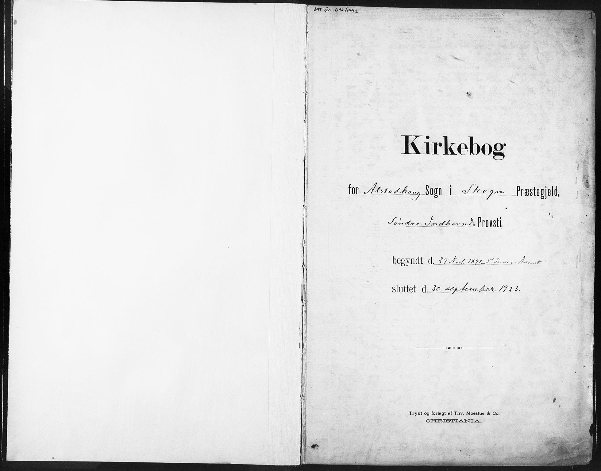 SAT, Ministerialprotokoller, klokkerbøker og fødselsregistre - Nord-Trøndelag, 717/L0162: Ministerialbok nr. 717A12, 1898-1923, s. 1