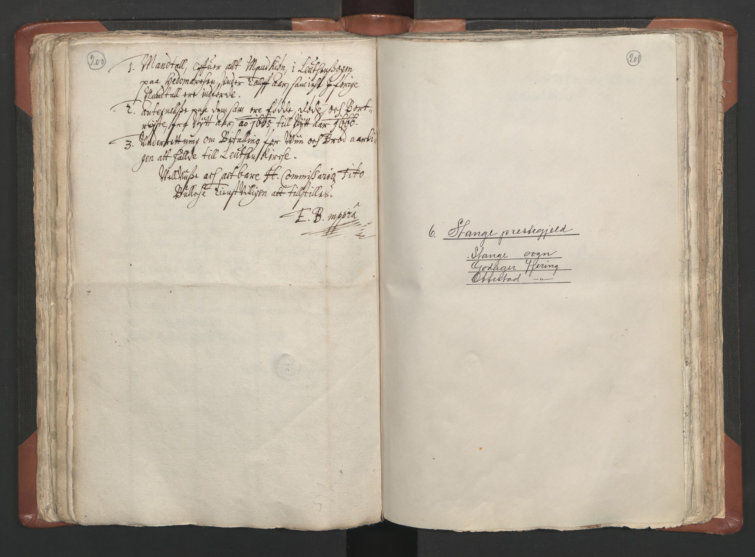 RA, Sogneprestenes manntall 1664-1666, nr. 5: Hedmark prosti, 1664-1666, s. 200-201