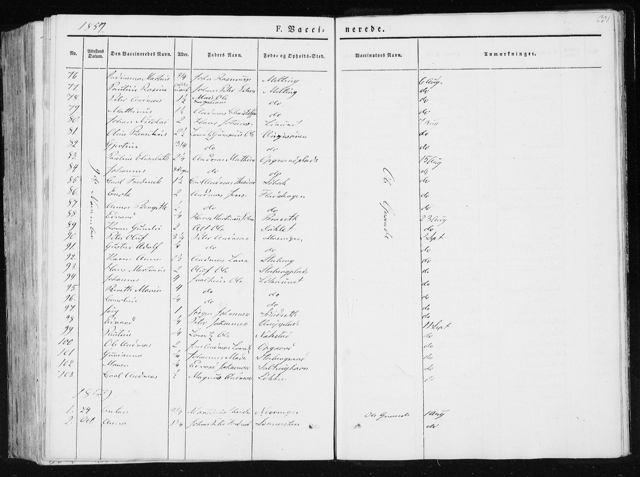 SAT, Ministerialprotokoller, klokkerbøker og fødselsregistre - Nord-Trøndelag, 733/L0323: Ministerialbok nr. 733A02, 1843-1870, s. 331