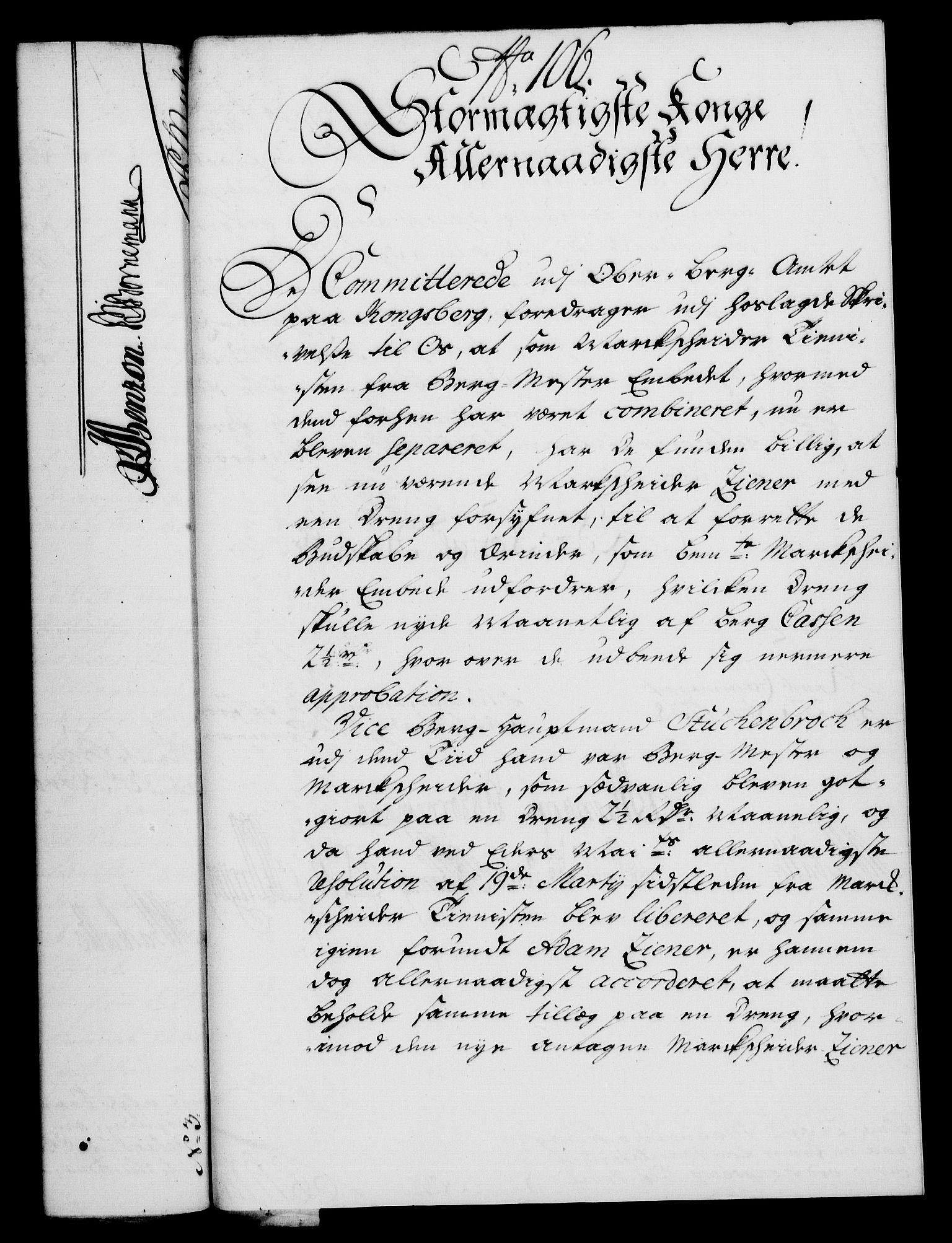 RA, Rentekammeret, Kammerkanselliet, G/Gf/Gfa/L0021: Norsk relasjons- og resolusjonsprotokoll (merket RK 52.21), 1738, s. 585