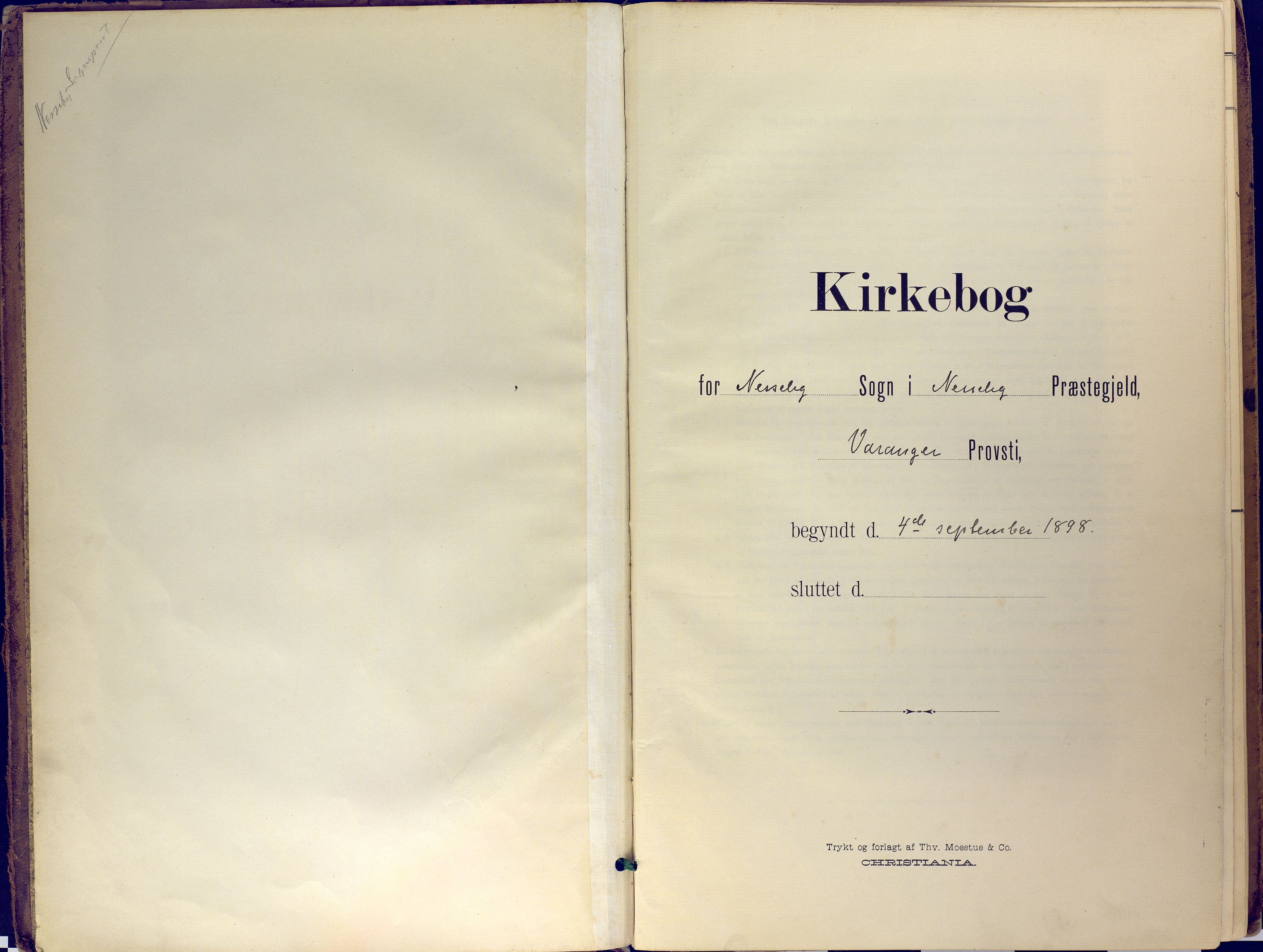 SATØ, Nesseby sokneprestkontor, H/Ha/L0007kirke: Ministerialbok nr. 7, 1898-1921