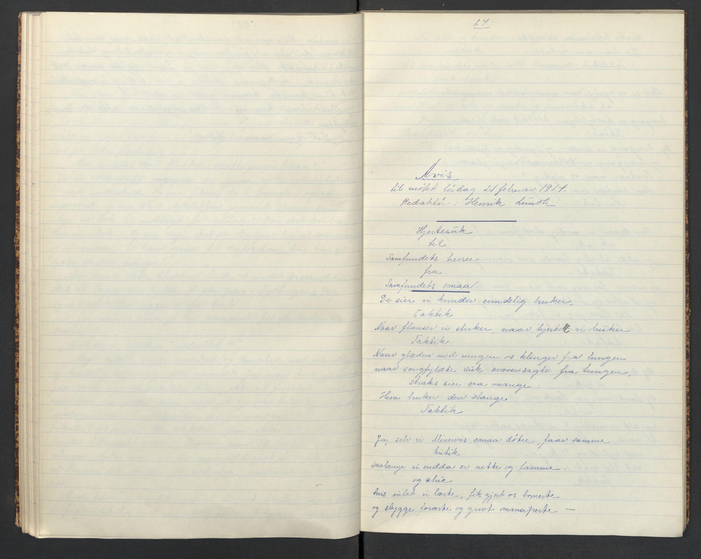 RA, Det Norske Studentersamfund, X/Xa/L0018, 1907-1915, s. 41