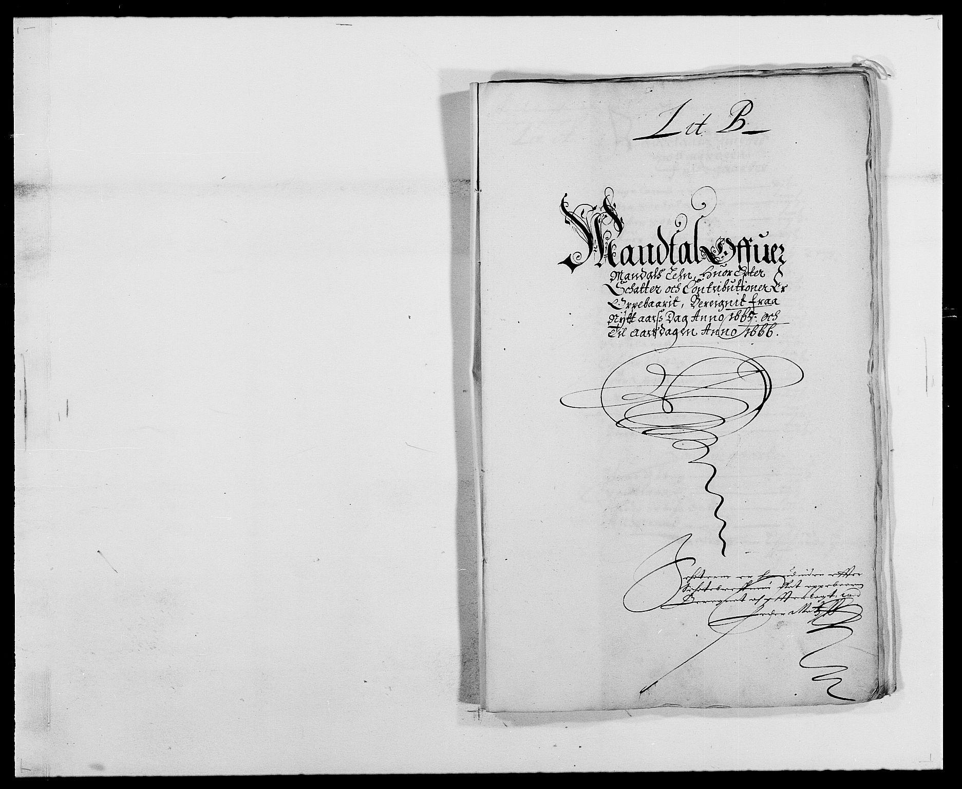 RA, Rentekammeret inntil 1814, Reviderte regnskaper, Fogderegnskap, R42/L2537: Mandal fogderi, 1664-1666, s. 106
