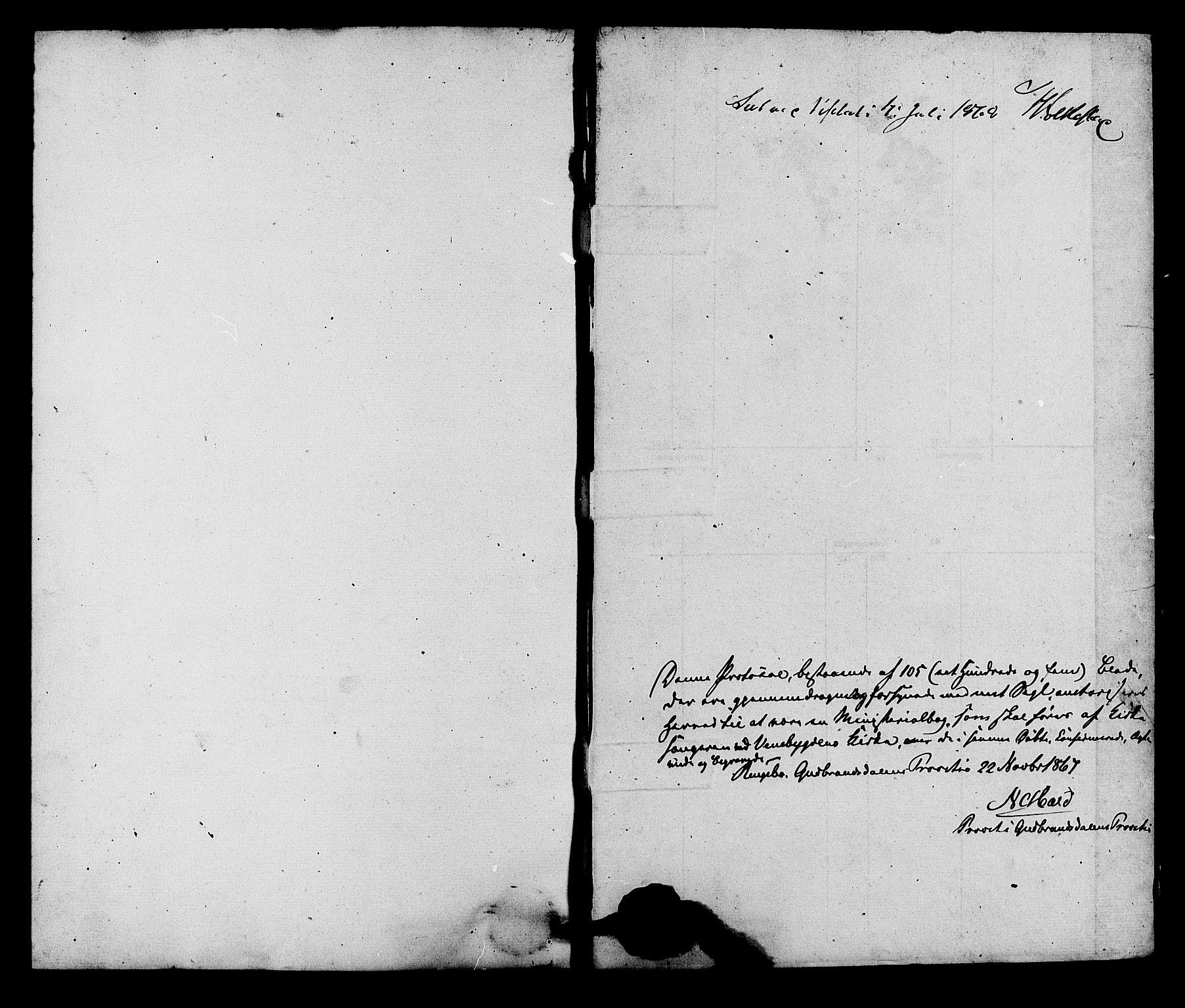 SAH, Ringebu prestekontor, Klokkerbok nr. 5, 1868-1870