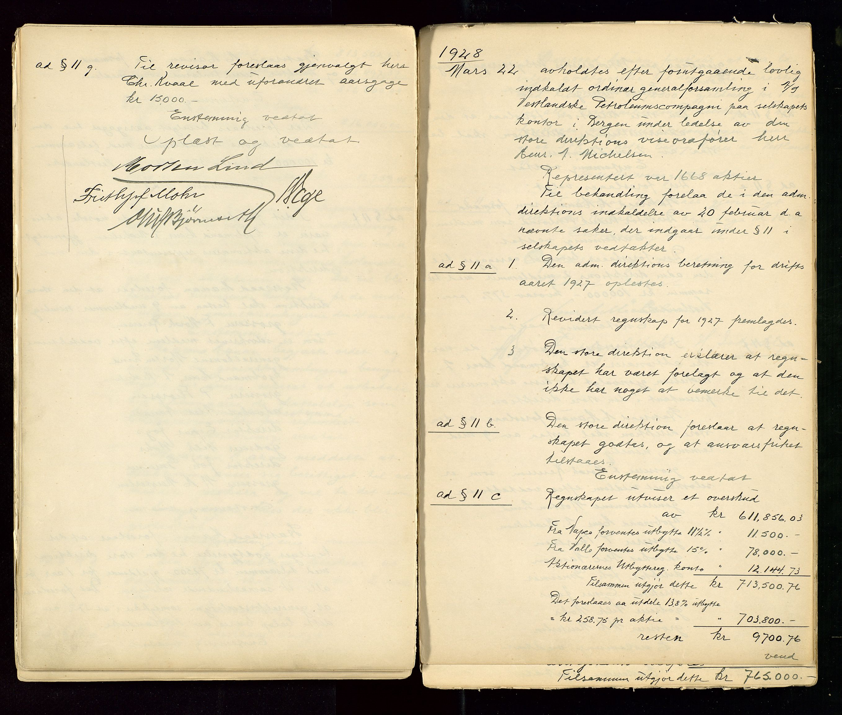 SAST, PA 1533 - A/S Vestlandske Petroleumscompani, A/Aa/L0001: Generalforsamlinger og styreprotokoller, 1890-1953, s. 87