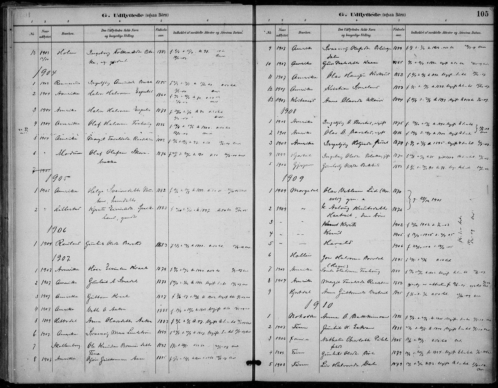 SAKO, Seljord kirkebøker, F/Fb/L0002: Ministerialbok nr. II 2, 1887-1917, s. 105