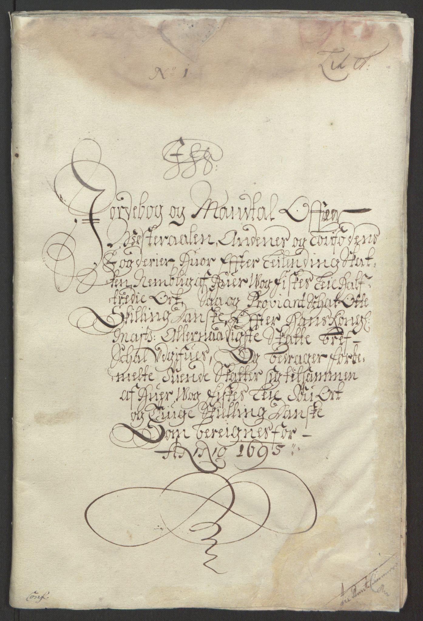 RA, Rentekammeret inntil 1814, Reviderte regnskaper, Fogderegnskap, R67/L4677: Fogderegnskap Vesterålen, Andenes og Lofoten, 1694-1695, s. 180