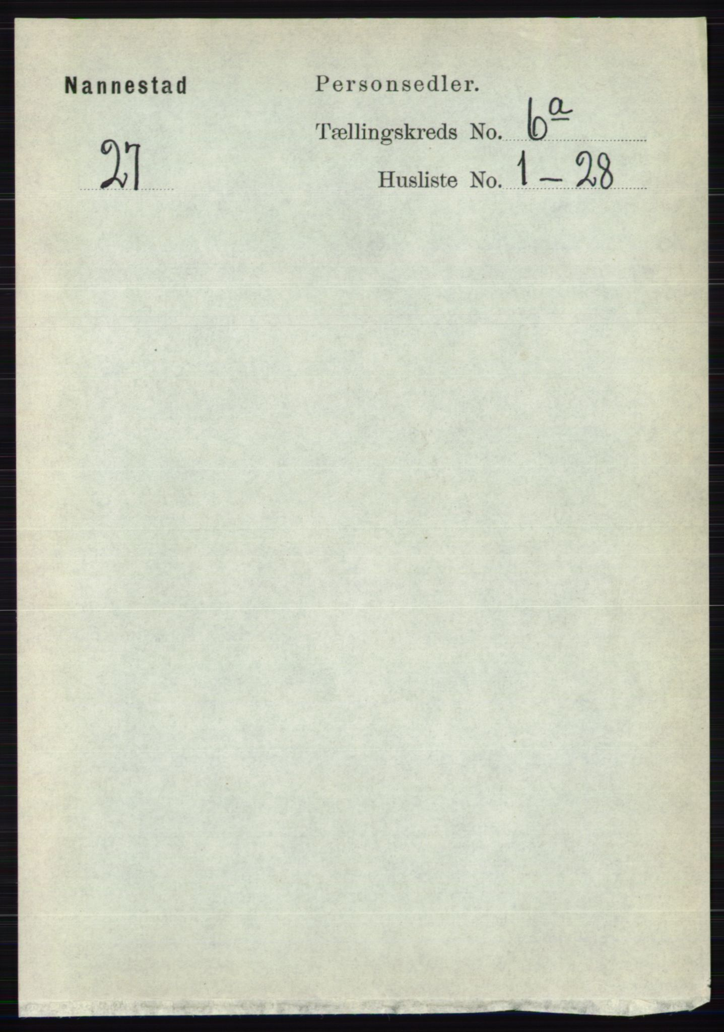 RA, Folketelling 1891 for 0238 Nannestad herred, 1891, s. 3061