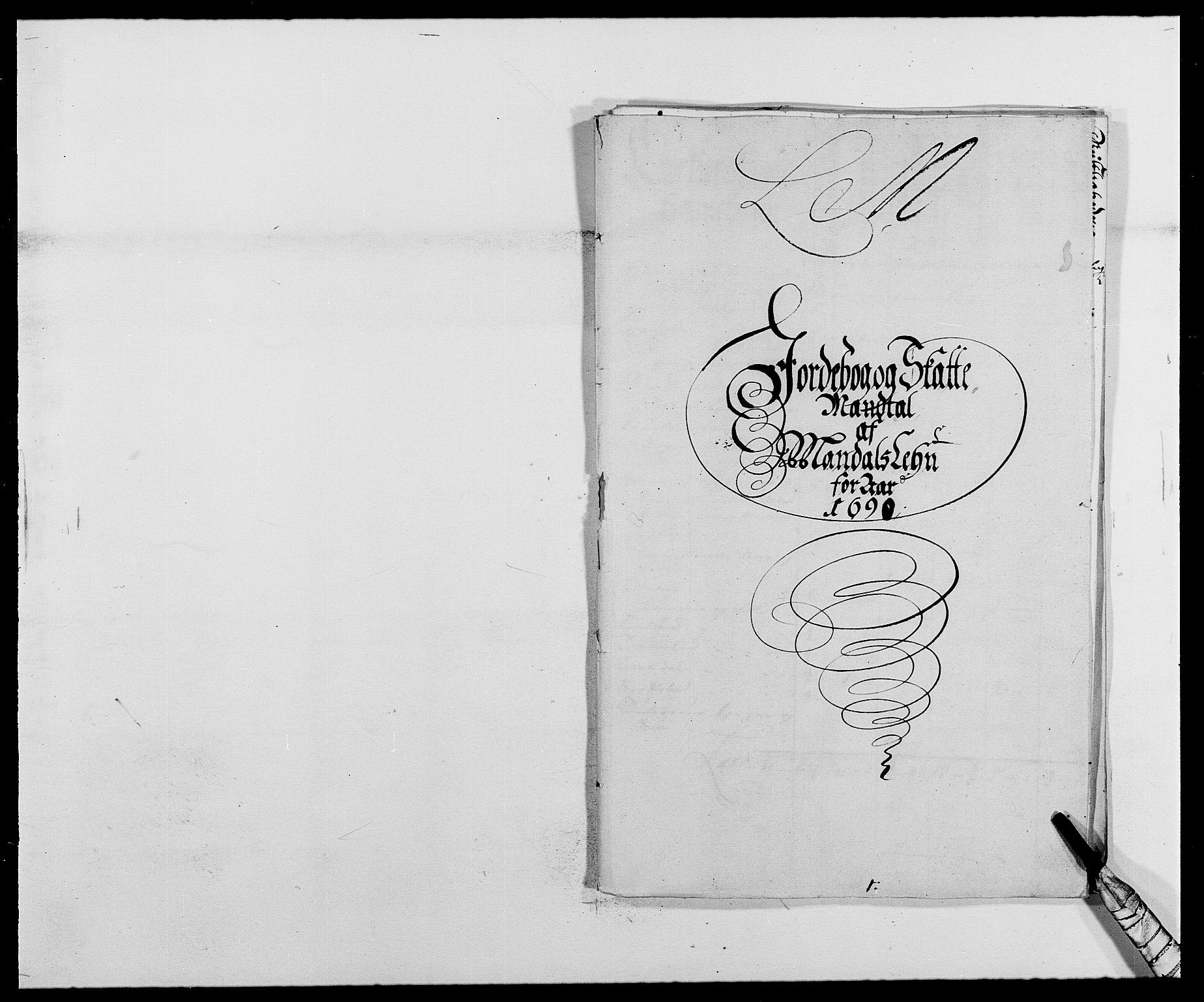 RA, Rentekammeret inntil 1814, Reviderte regnskaper, Fogderegnskap, R42/L2543: Mandal fogderi, 1688-1691, s. 170