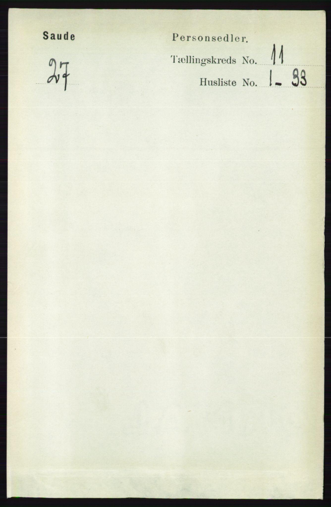 RA, Folketelling 1891 for 0822 Sauherad herred, 1891, s. 3376