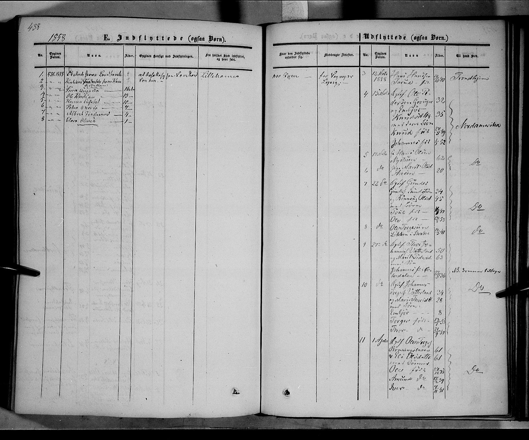 SAH, Nord-Fron prestekontor, Ministerialbok nr. 1, 1851-1864, s. 438