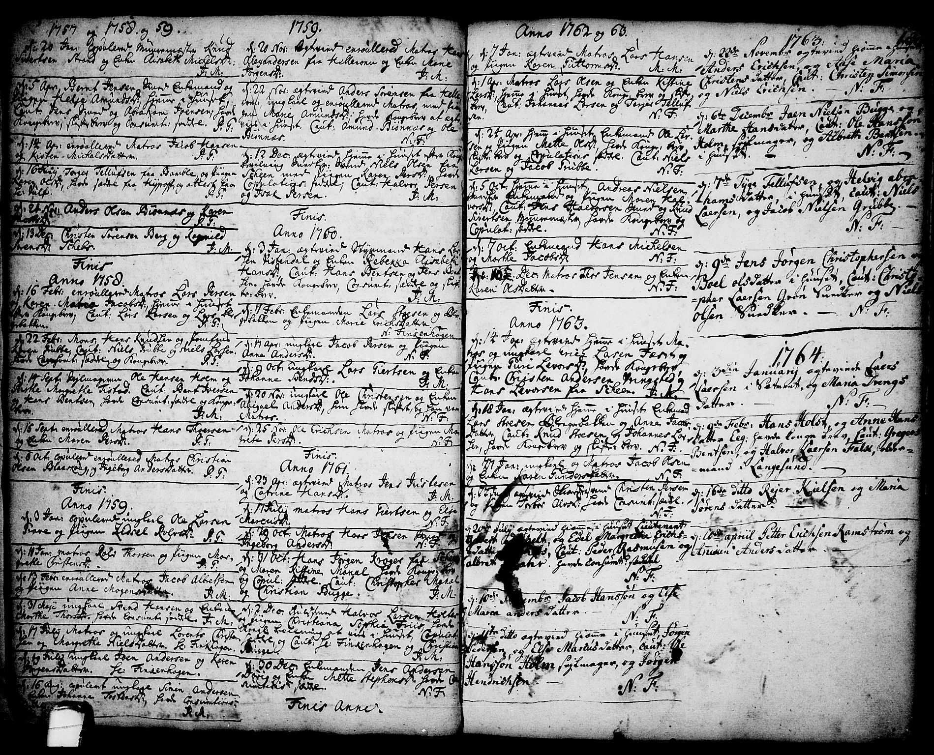 SAKO, Brevik kirkebøker, F/Fa/L0002: Ministerialbok nr. 2, 1720-1764, s. 18