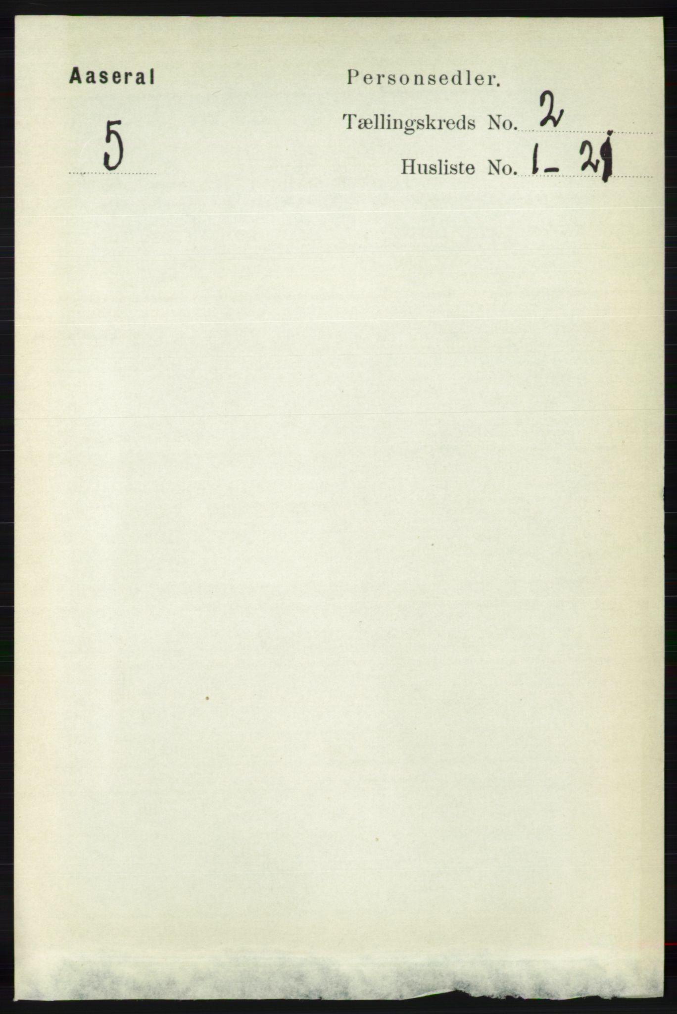 RA, Folketelling 1891 for 1026 Åseral herred, 1891, s. 387