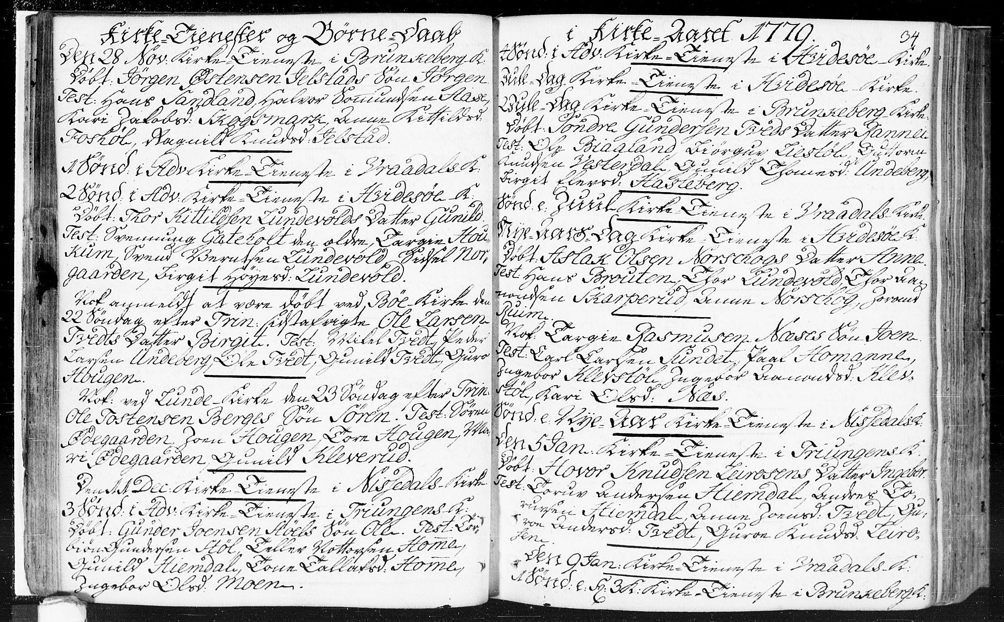 SAKO, Kviteseid kirkebøker, F/Fa/L0002: Ministerialbok nr. I 2, 1773-1786, s. 34