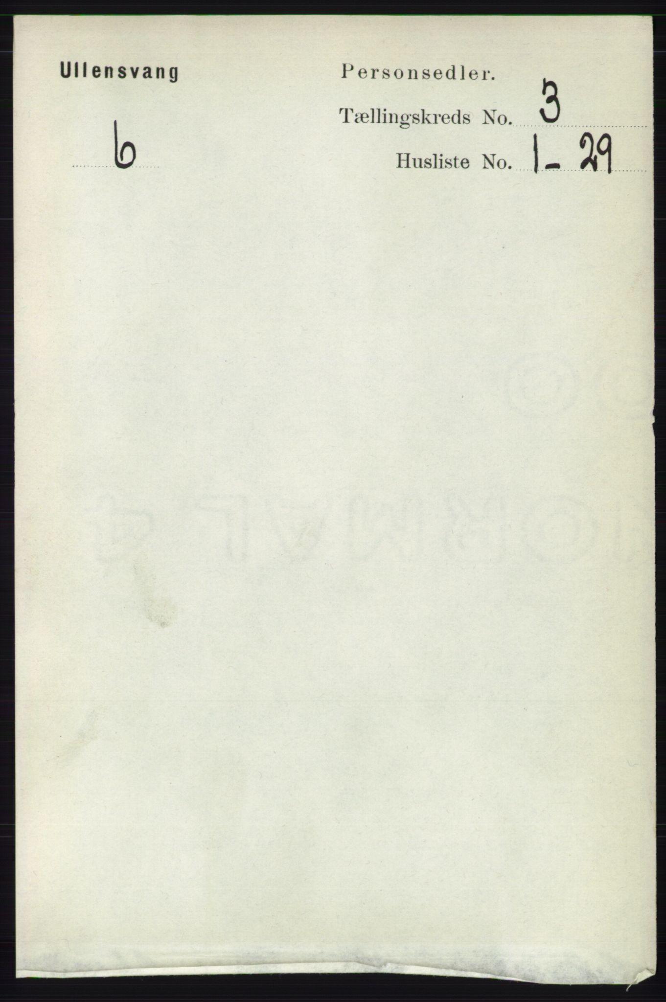 RA, Folketelling 1891 for 1230 Ullensvang herred, 1891, s. 584