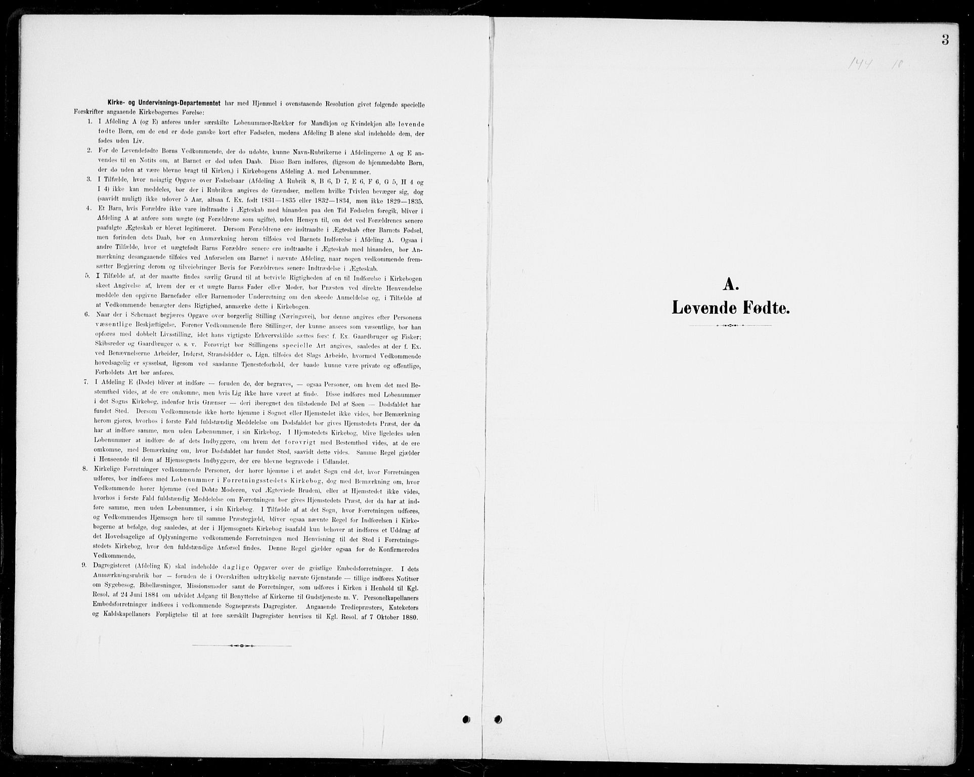 SAKO, Modum kirkebøker, G/Gb/L0001: Klokkerbok nr. II 1, 1901-1942, s. 3