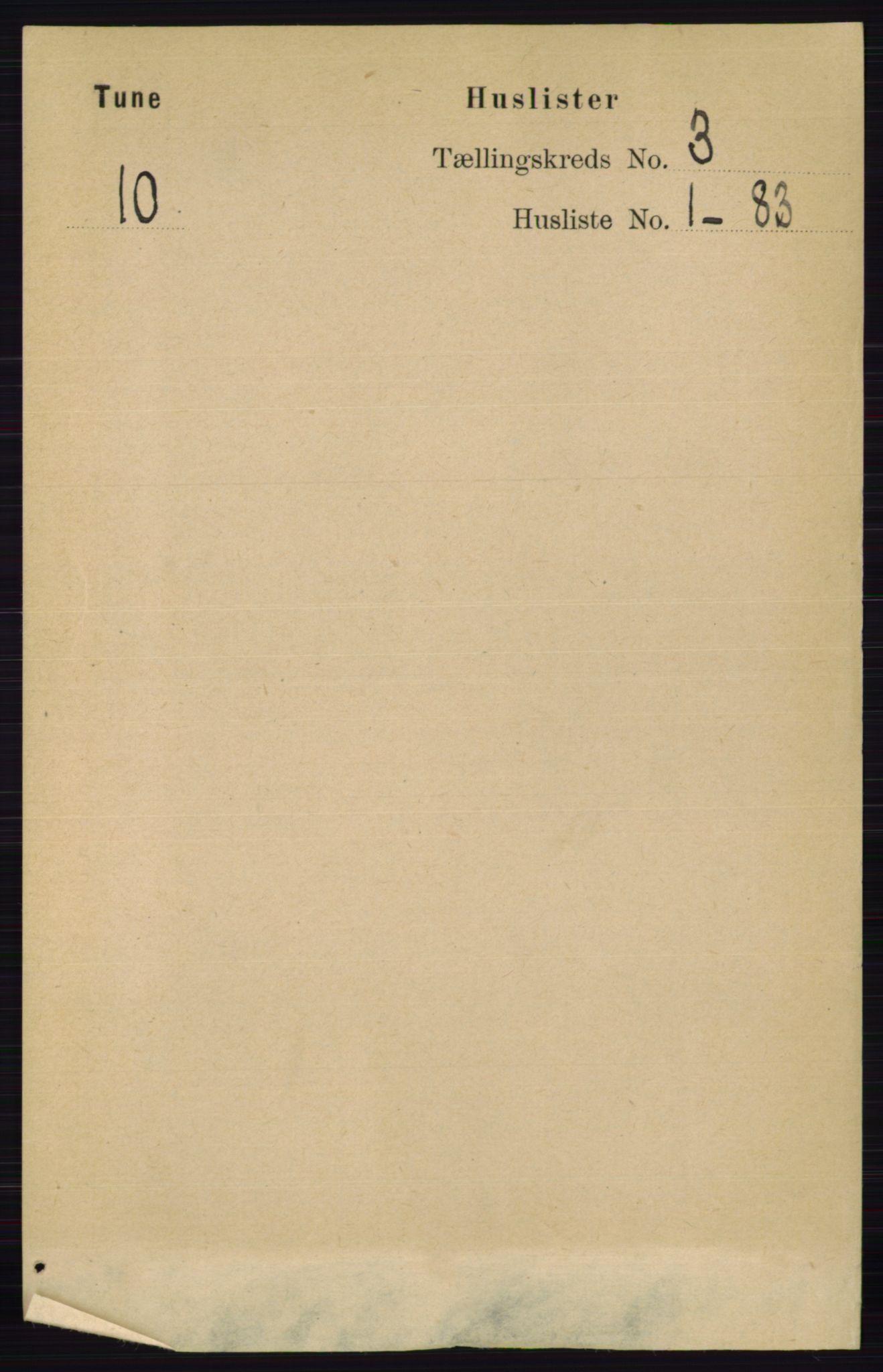 RA, Folketelling 1891 for 0130 Tune herred, 1891, s. 1399