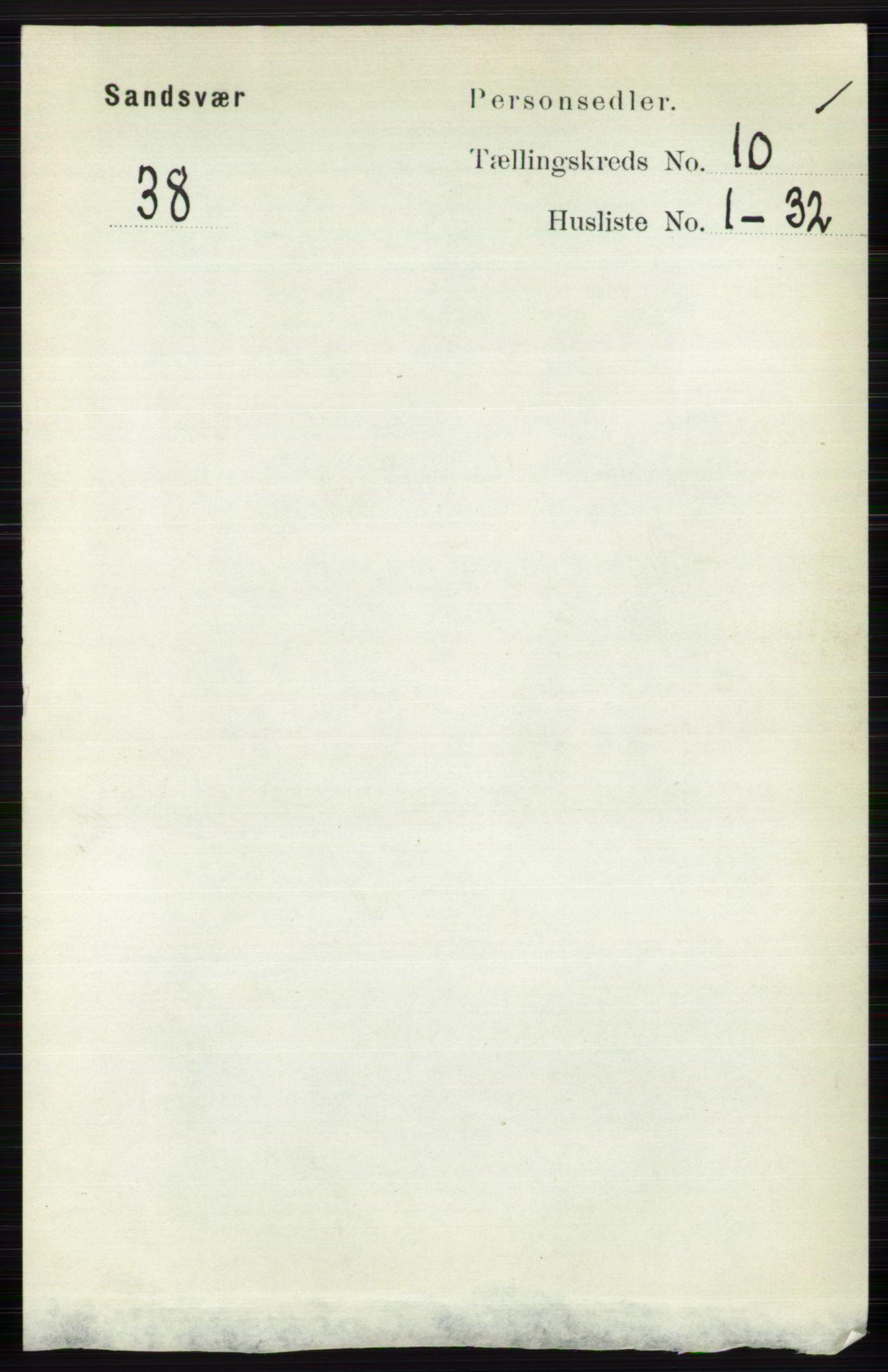 RA, Folketelling 1891 for 0629 Sandsvær herred, 1891, s. 4922
