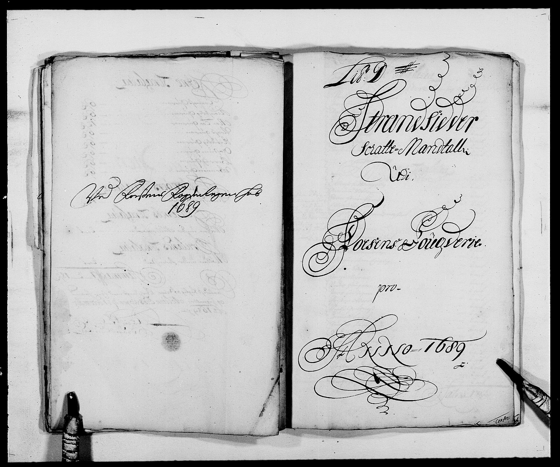 RA, Rentekammeret inntil 1814, Reviderte regnskaper, Fogderegnskap, R57/L3847: Fogderegnskap Fosen, 1689, s. 28