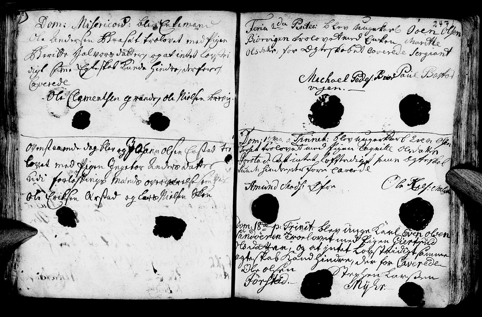 SAT, Ministerialprotokoller, klokkerbøker og fødselsregistre - Nord-Trøndelag, 722/L0215: Ministerialbok nr. 722A02, 1718-1755, s. 247