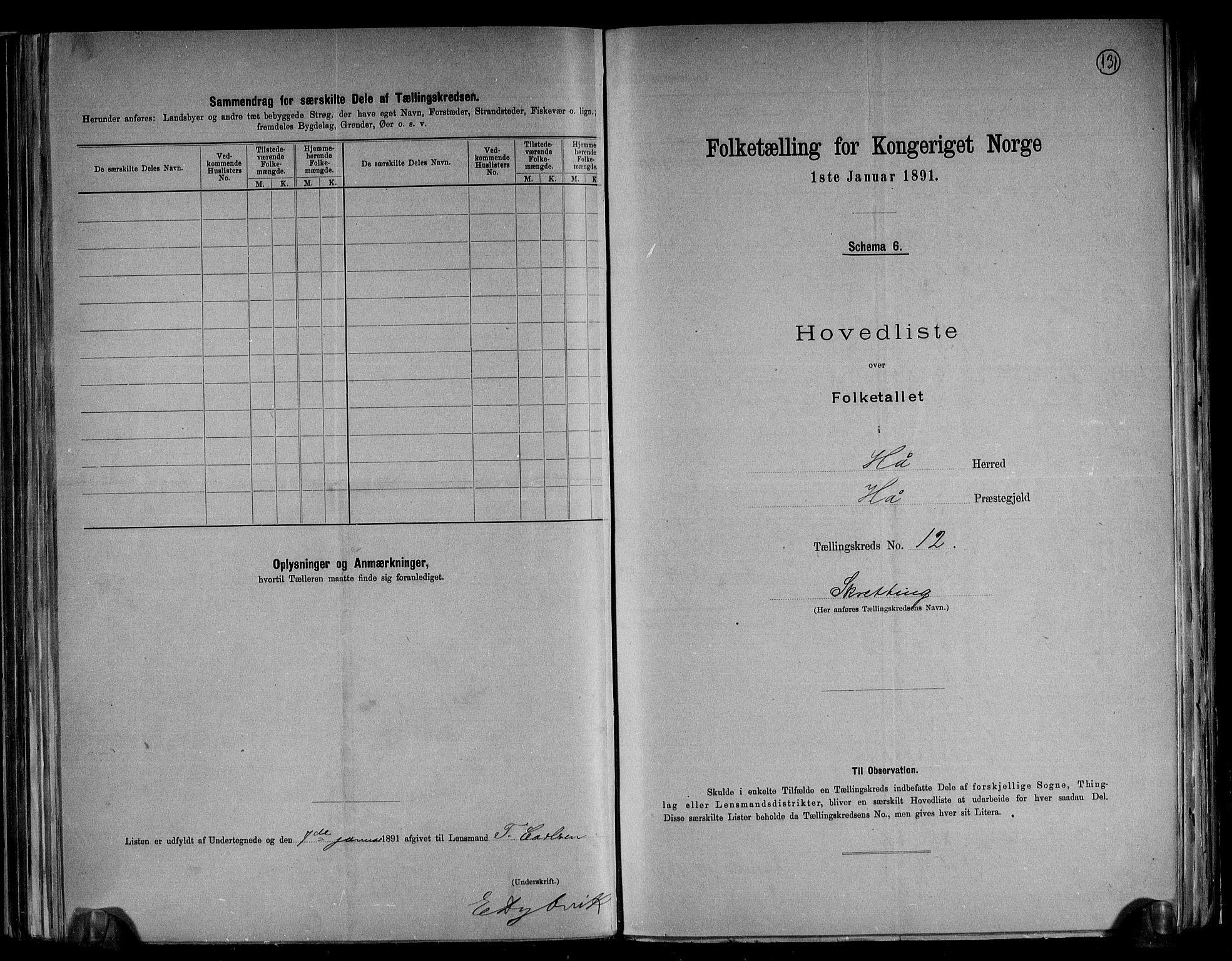 RA, Folketelling 1891 for 1119 Hå herred, 1891, s. 28