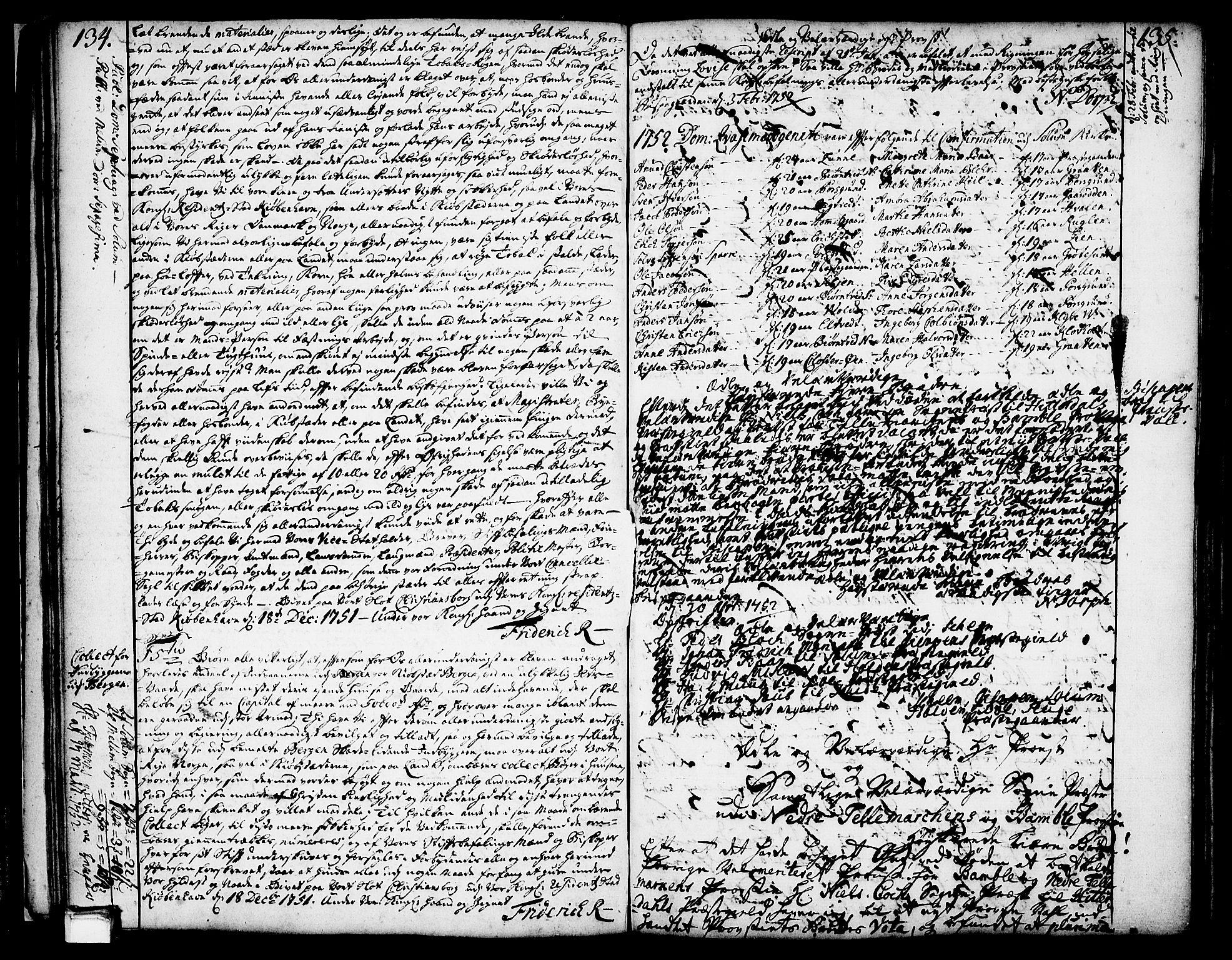 SAKO, Solum kirkebøker, Annen kirkebok nr. ?, 1743-1791, s. 134-135