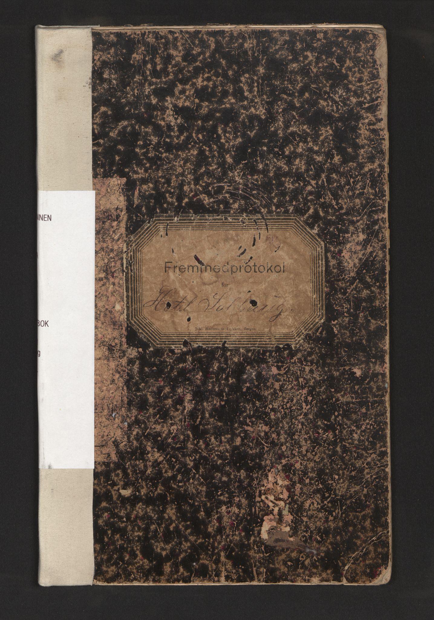 SAB, Lensmannen i Fana, 0020/L0002: Framandbok for Hotell Solhaug, 1901-1922