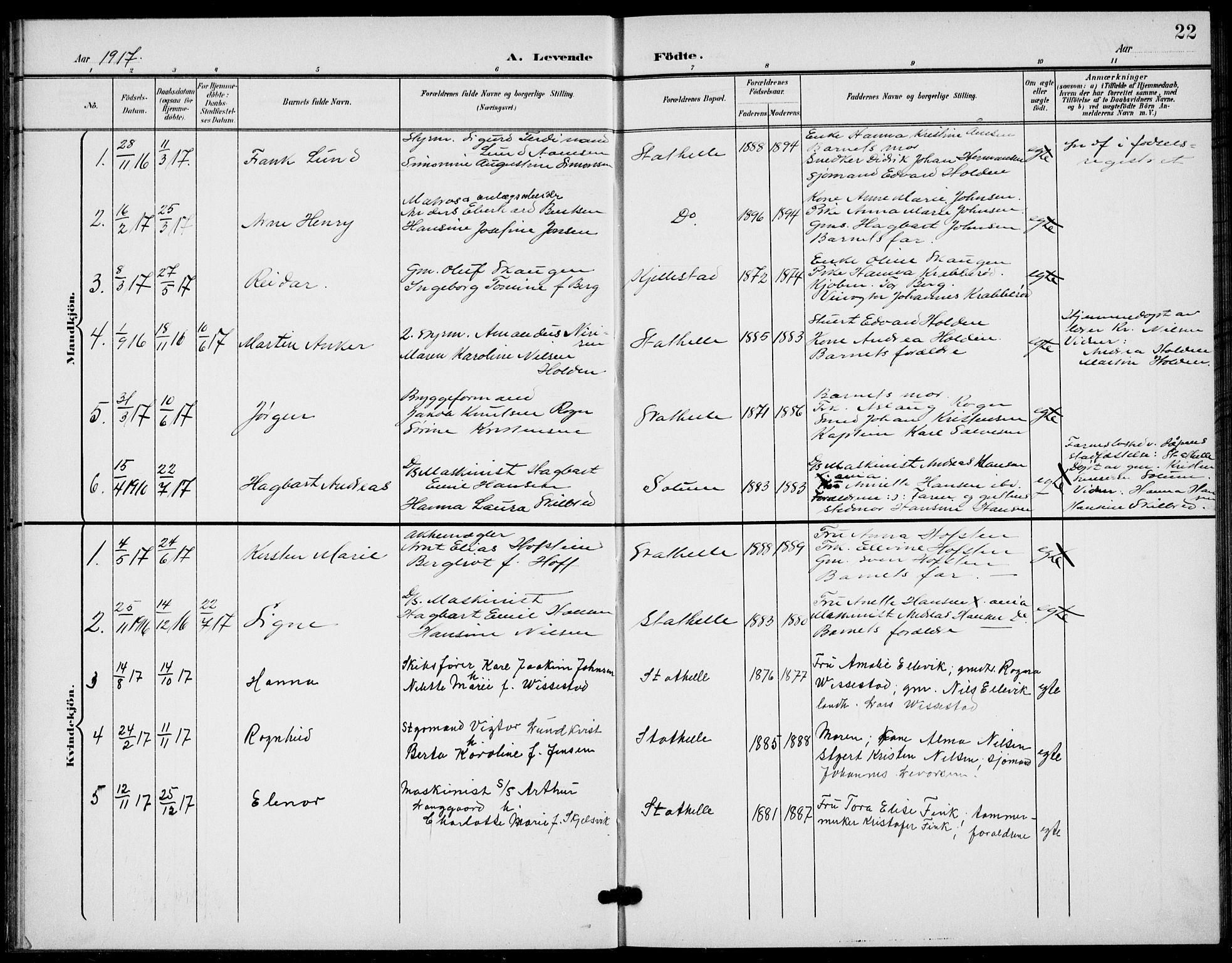 SAKO, Bamble kirkebøker, G/Gb/L0002: Klokkerbok nr. II 2, 1900-1925, s. 22