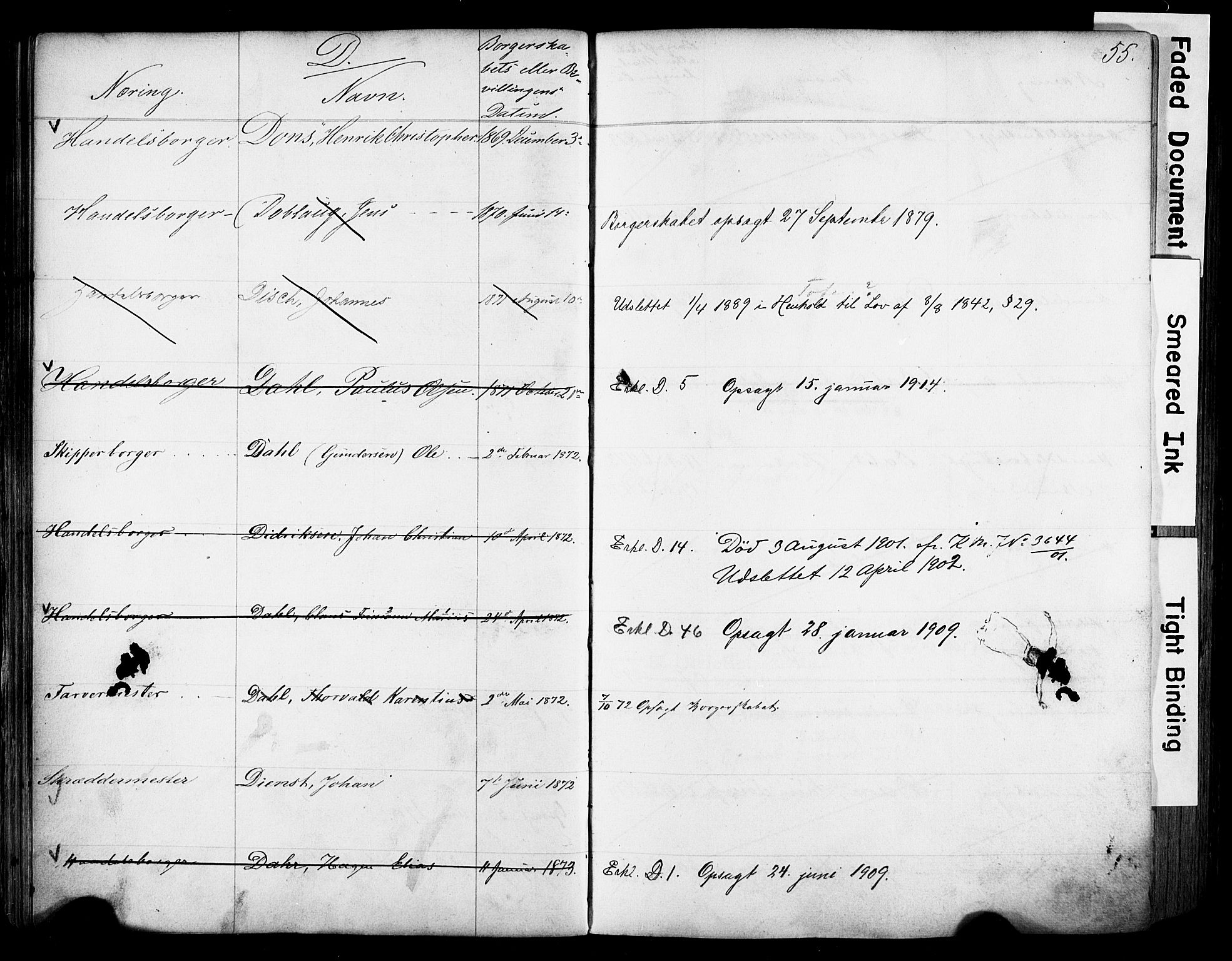 SAO, Kristiania magistrat, F/Fb/L0004: Borgerrulle, 1860-1879, s. 57