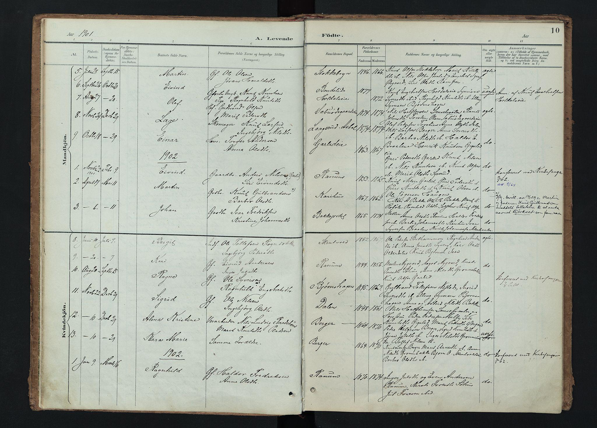 SAH, Nord-Aurdal prestekontor, Ministerialbok nr. 15, 1896-1914, s. 10