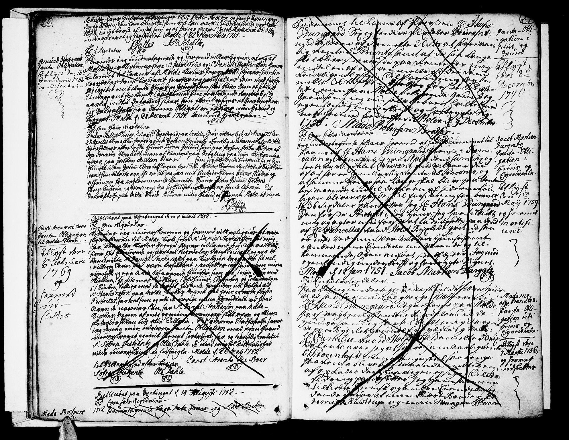 SAT, Molde byfogd, 2/2C/L0001: Pantebok nr. 1, 1748-1823, s. 26-27