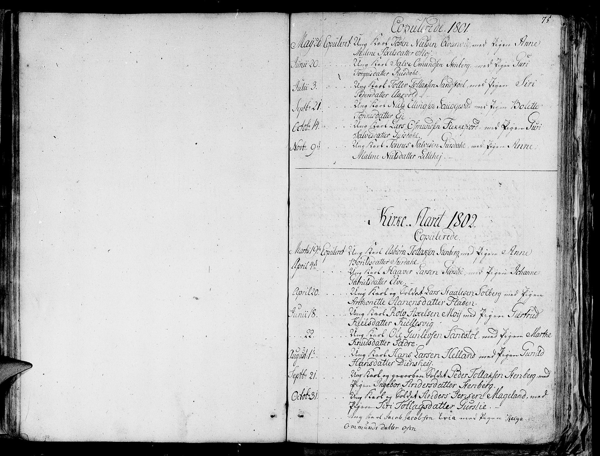 SAST, Lund sokneprestkontor, Ministerialbok nr. A 4 /1, 1801-1864, s. 75