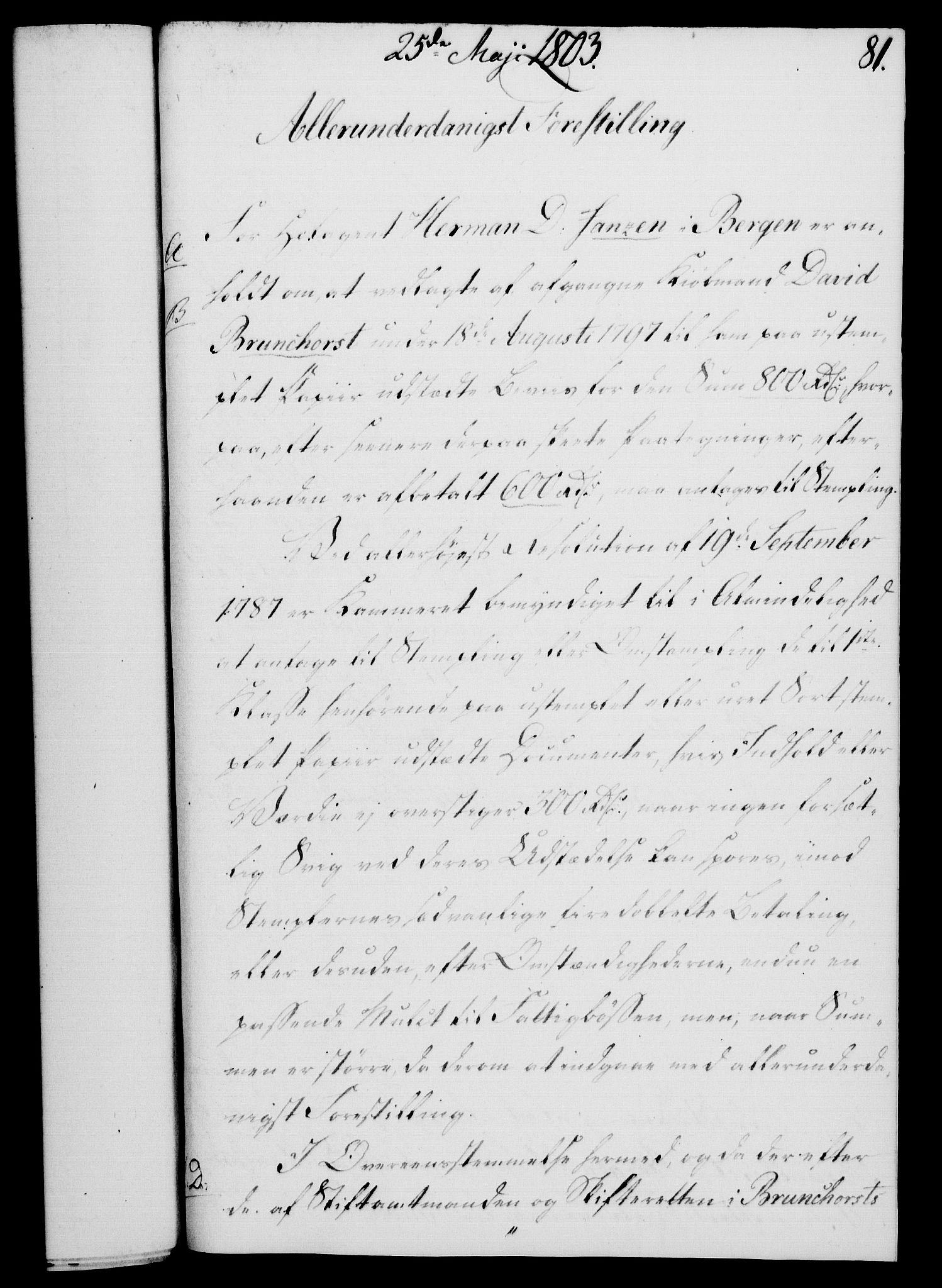 RA, Rentekammeret, Kammerkanselliet, G/Gf/Gfa/L0085: Norsk relasjons- og resolusjonsprotokoll (merket RK 52.85), 1803, s. 492